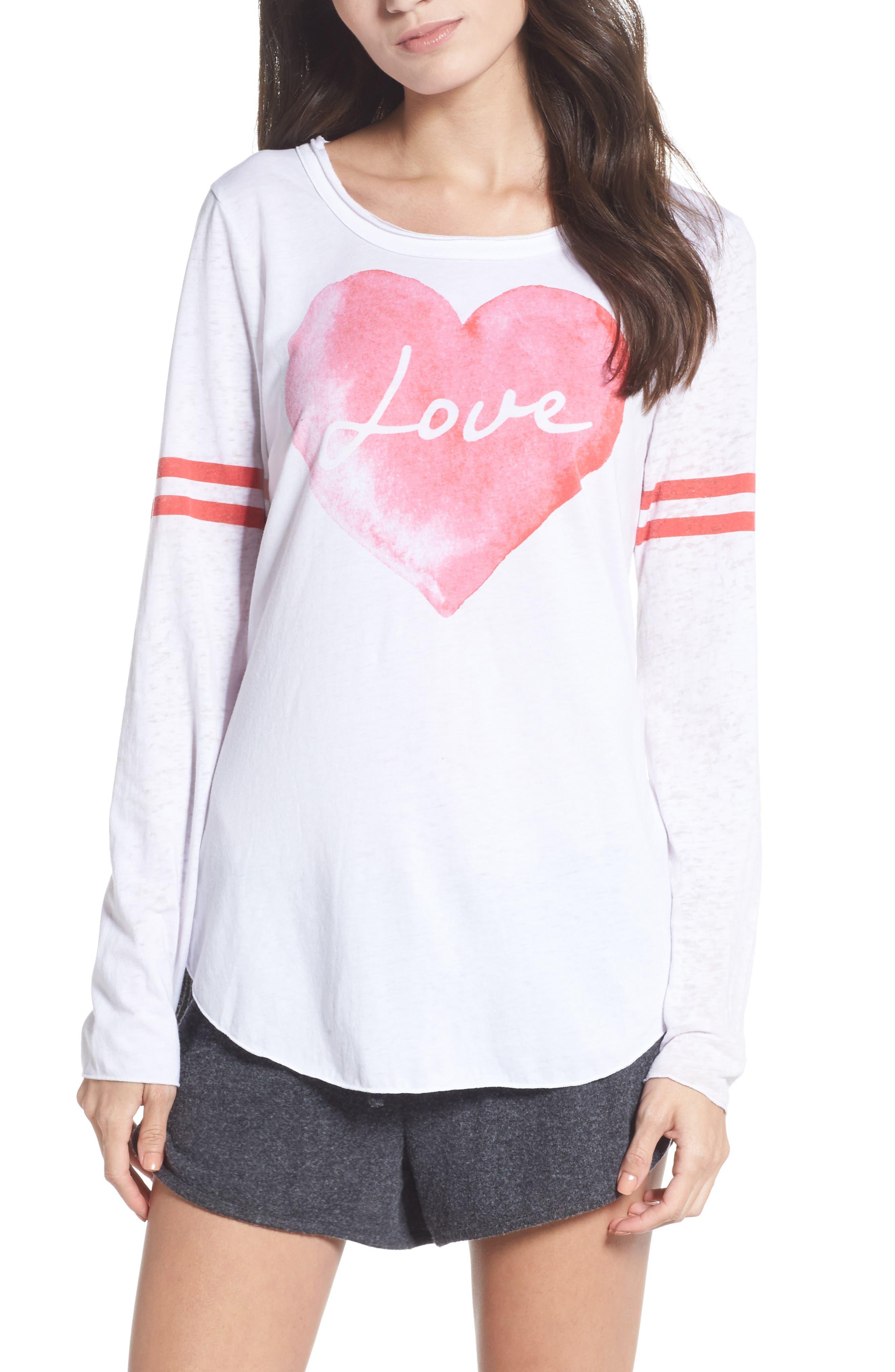 Lover Heart Tee,                             Main thumbnail 1, color,                             100