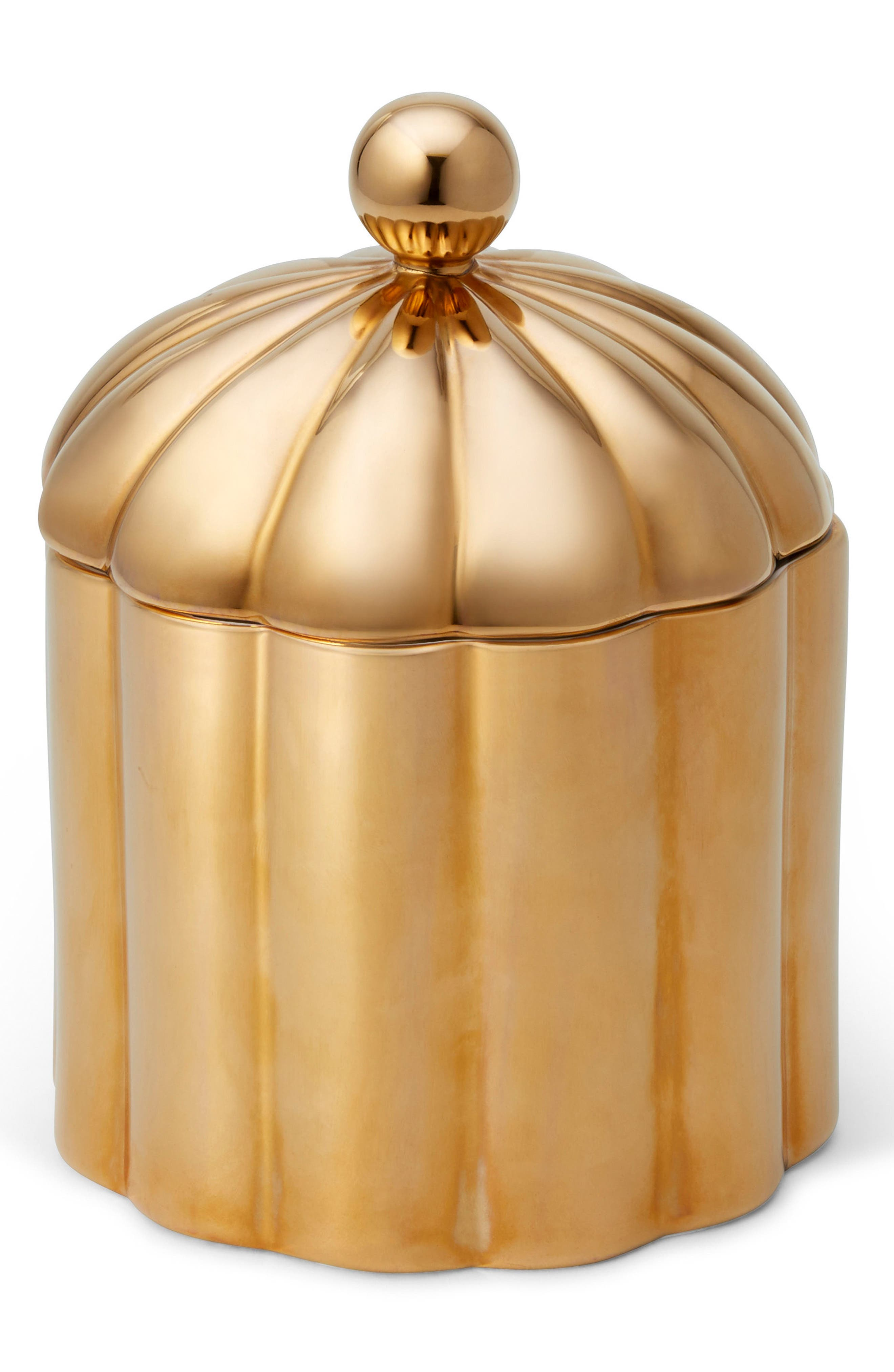 Franz Cypress 3-Wick Candle,                             Main thumbnail 1, color,                             GOLD
