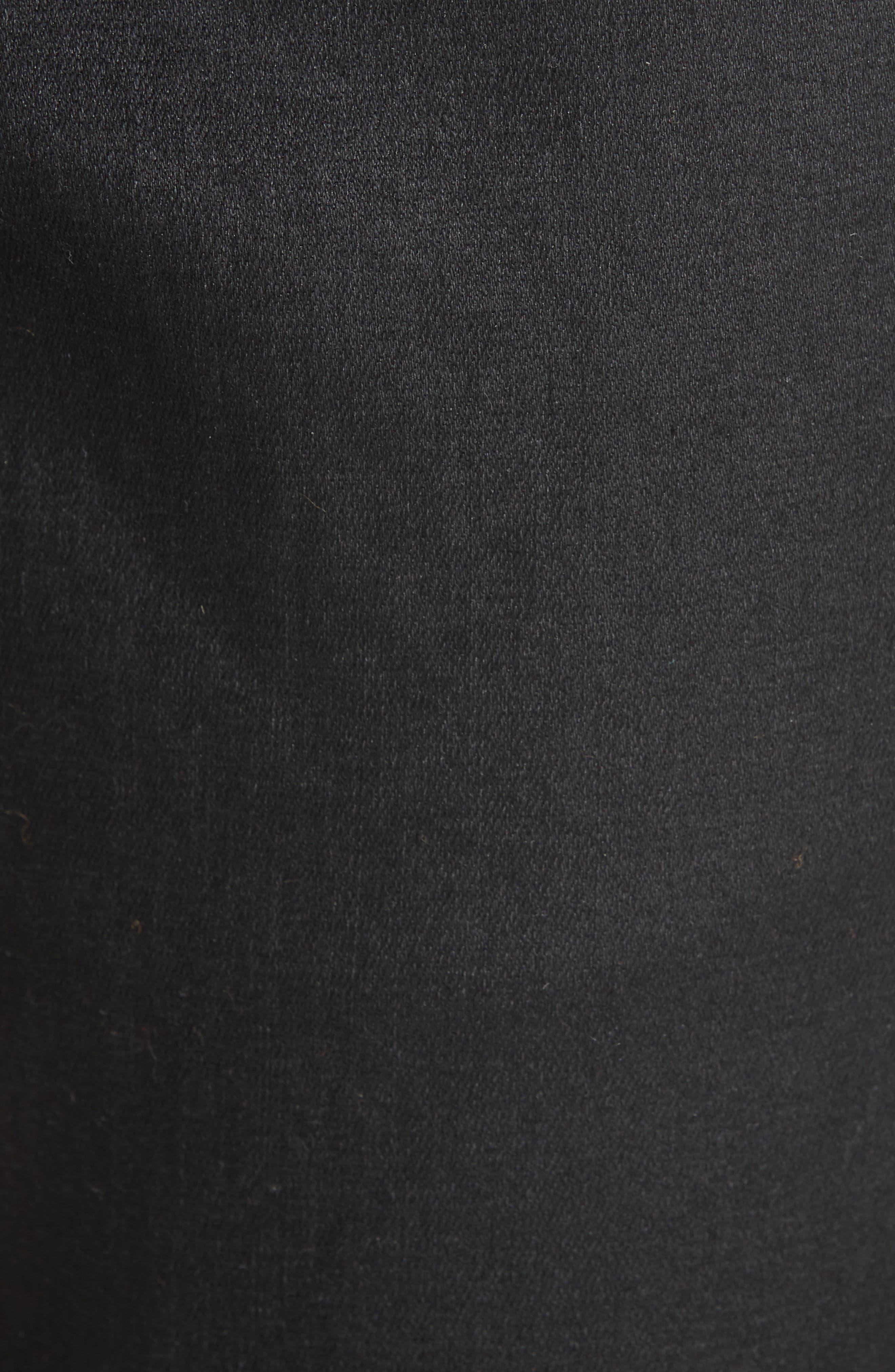 Slim Ankle Jeans,                             Alternate thumbnail 6, color,                             BLACK