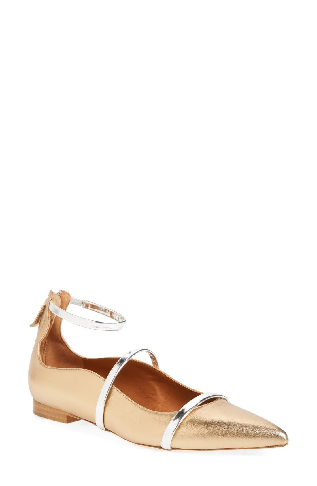 'Robyn' Ankle Strap Flat,                             Main thumbnail 1, color,                             710