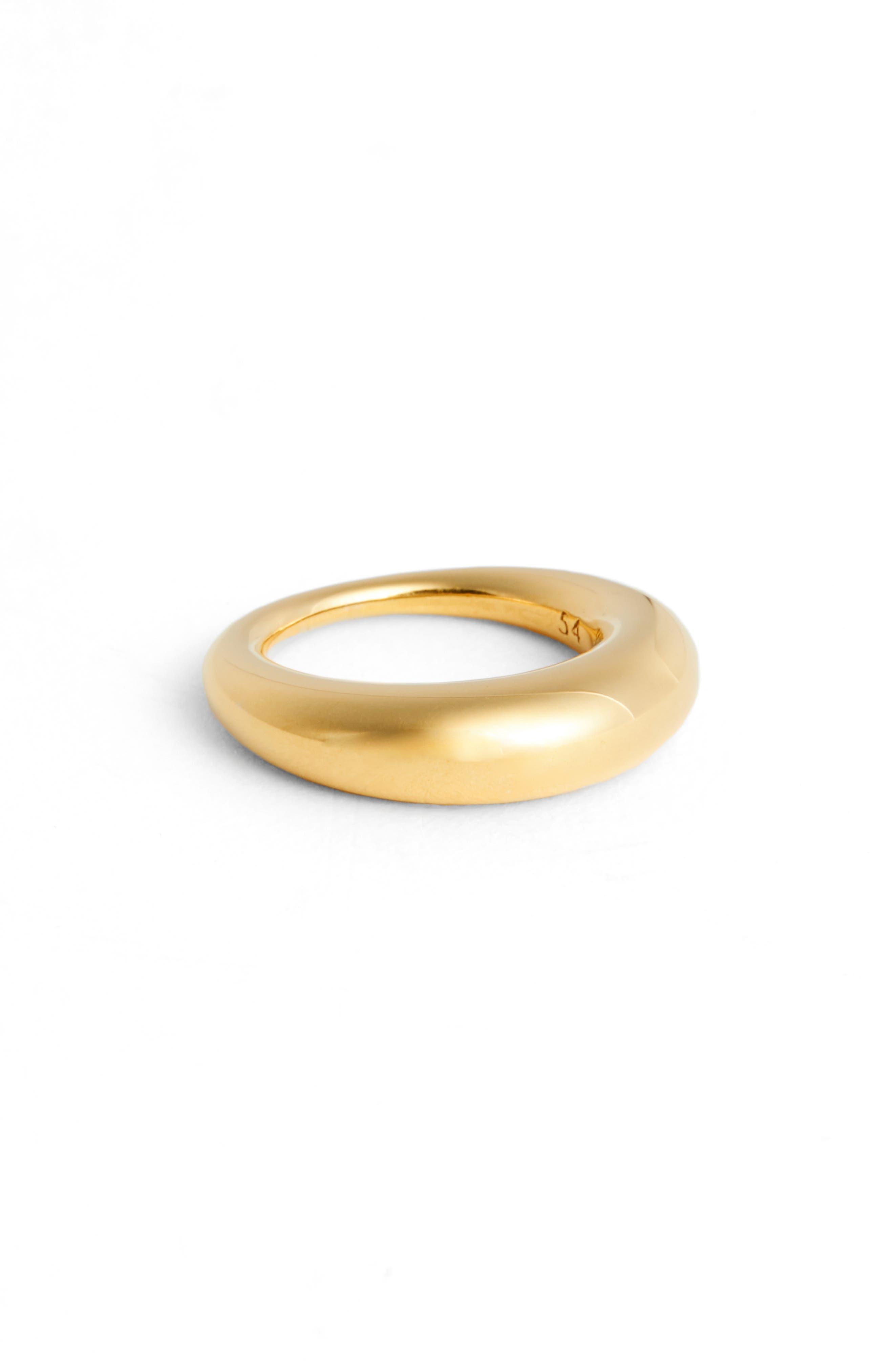 Large Snake Polished Silver Ring,                         Main,                         color, GOLD VERMEIL