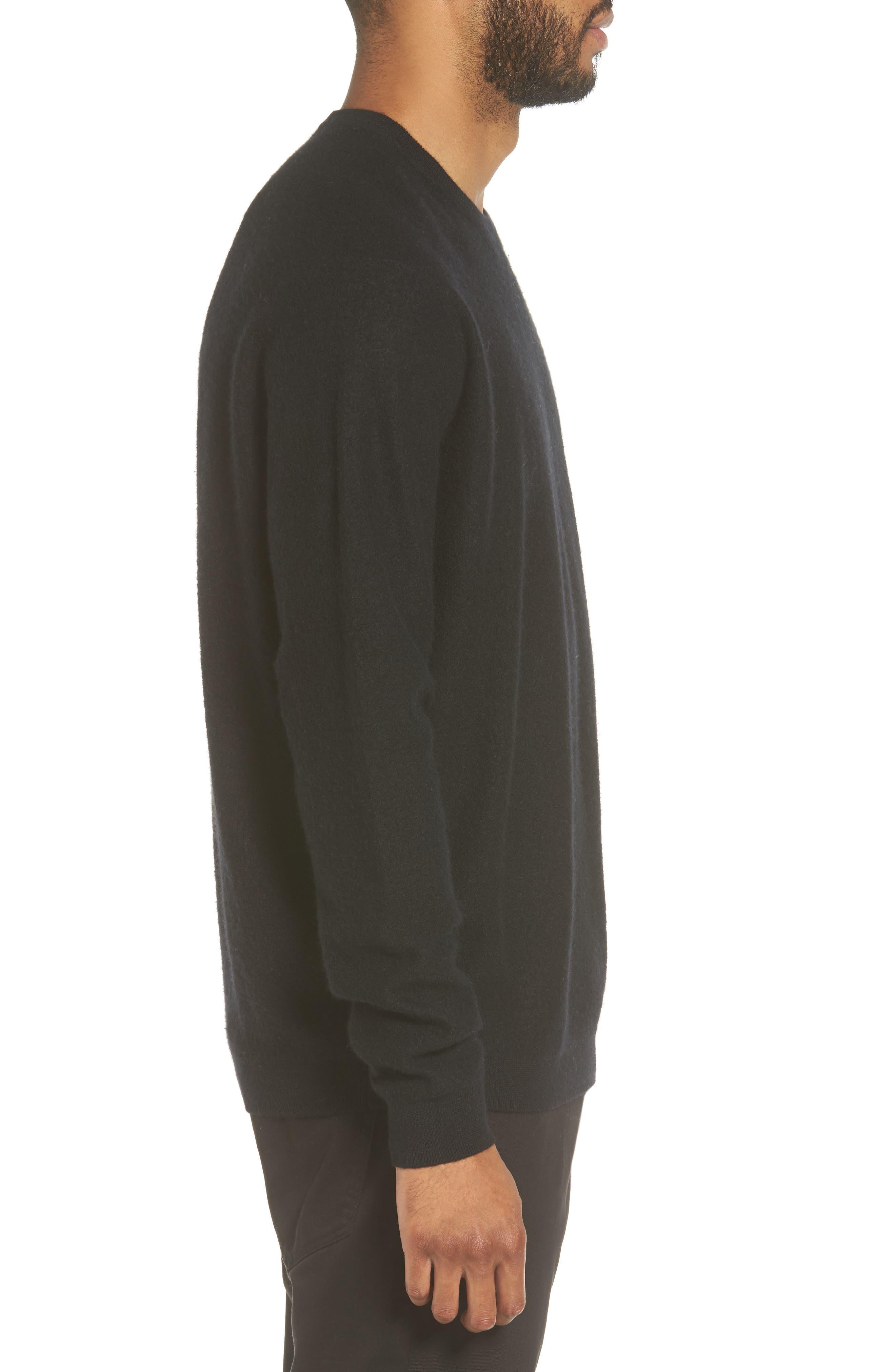 Cashmere Crewneck Sweater,                             Alternate thumbnail 3, color,                             001