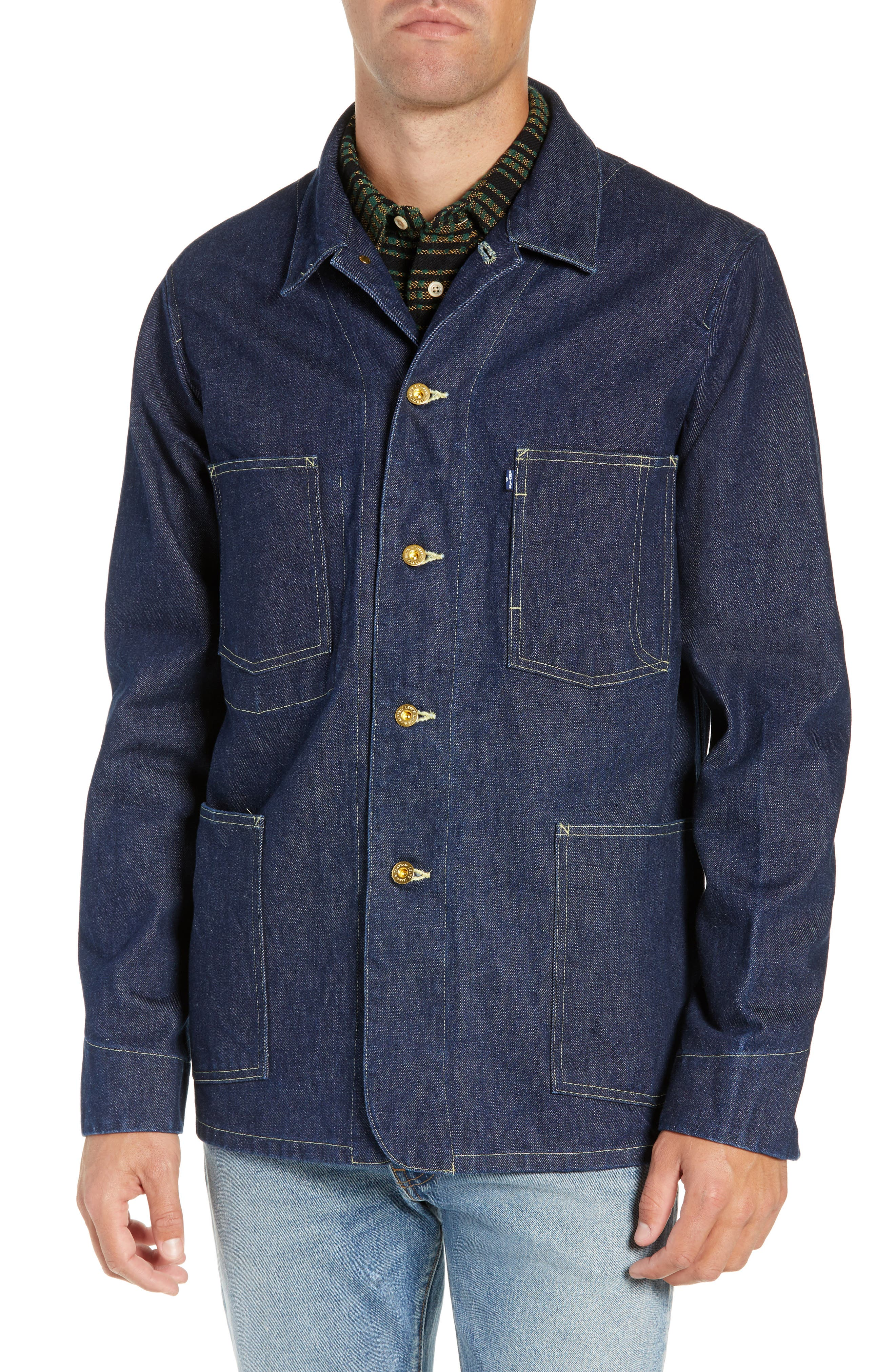 LEVI'S<SUP>®</SUP> MADE & CRAFTED<SUP>™</SUP>,                             Sat Denim Shirt Jacket,                             Alternate thumbnail 5, color,                             RINSE