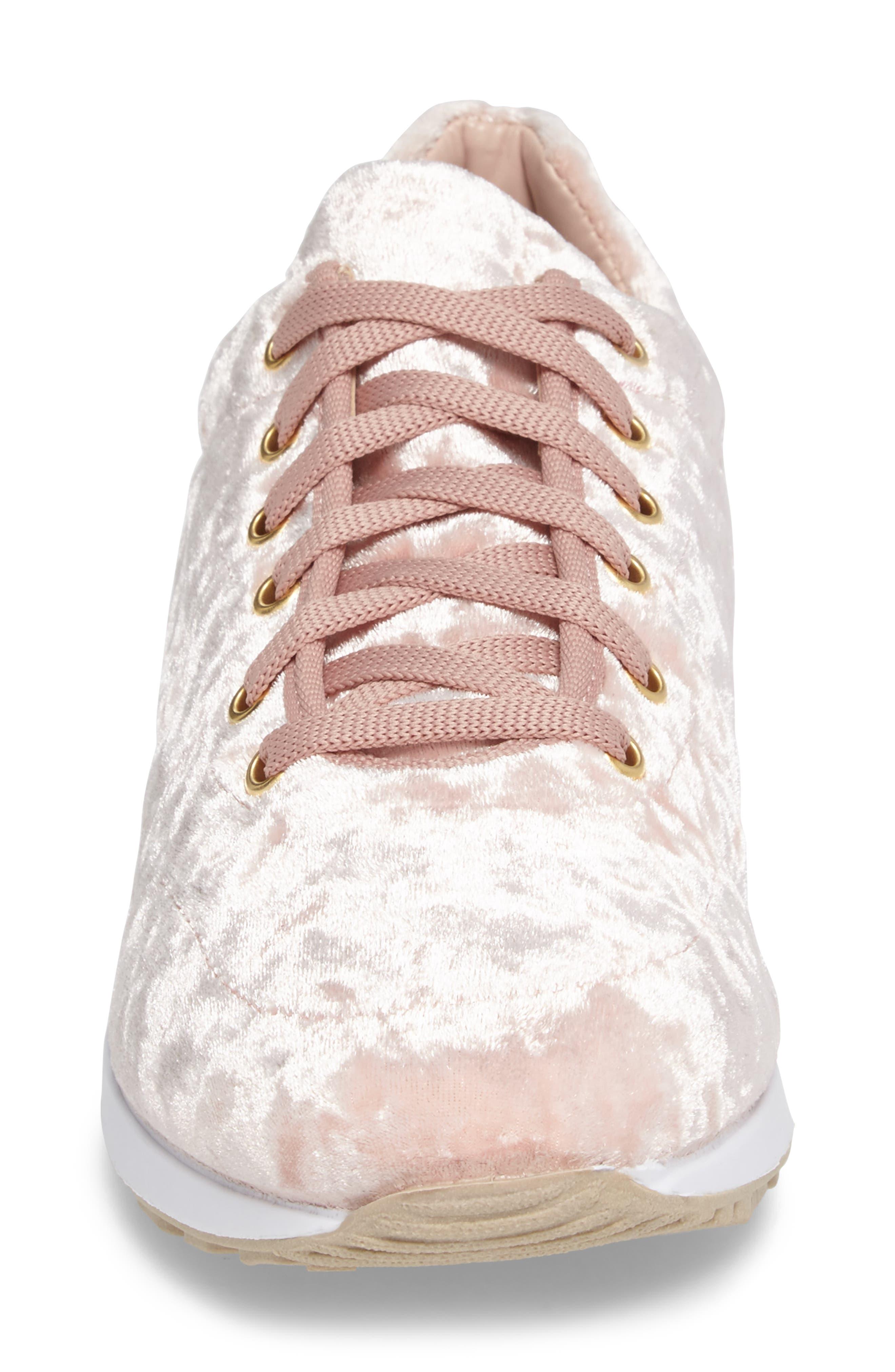 Croatia Velvet Sneaker,                             Alternate thumbnail 4, color,                             650