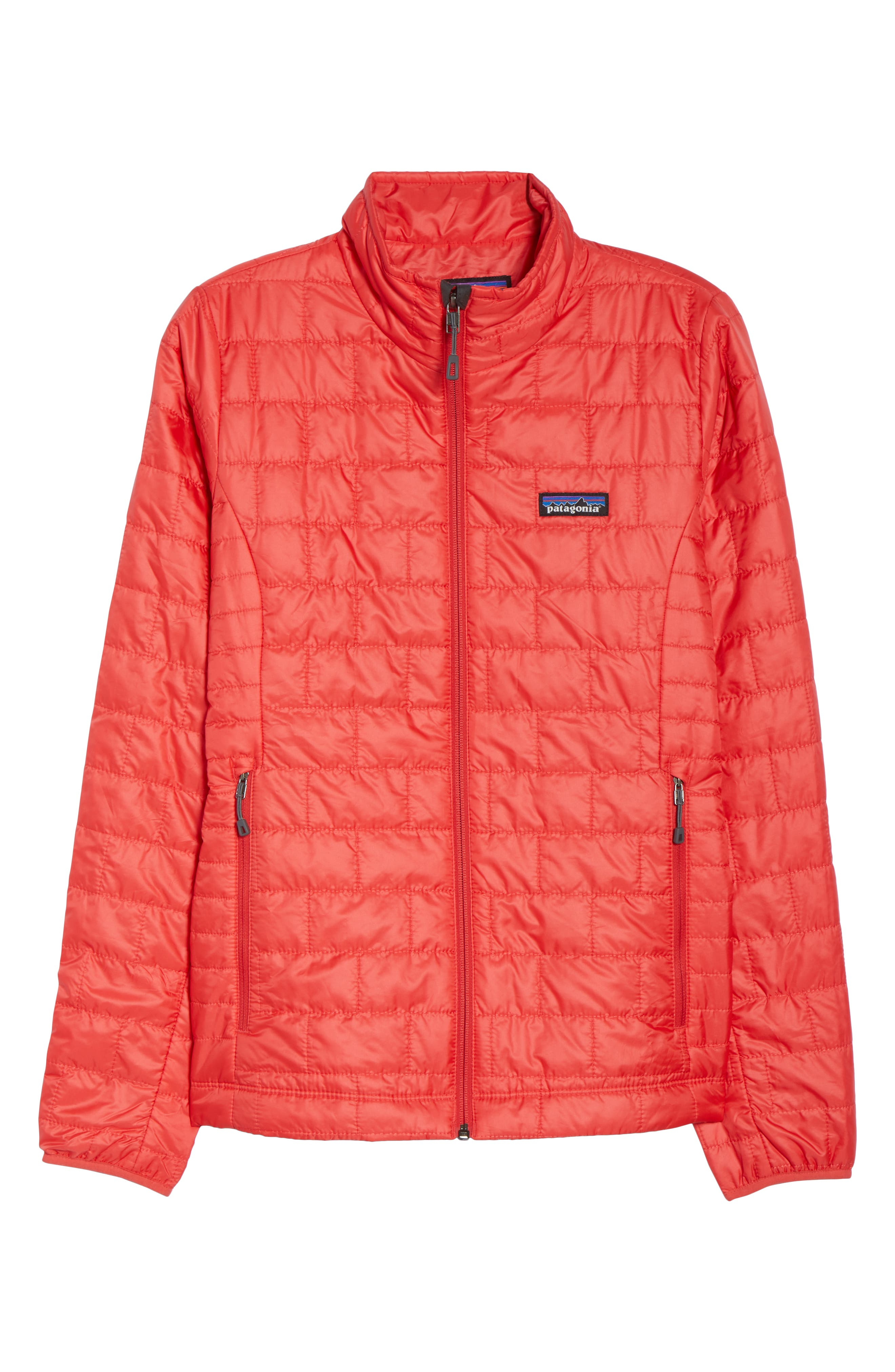 Nano Puff<sup>®</sup> Water Resistant Jacket,                             Alternate thumbnail 6, color,                             TOMATO