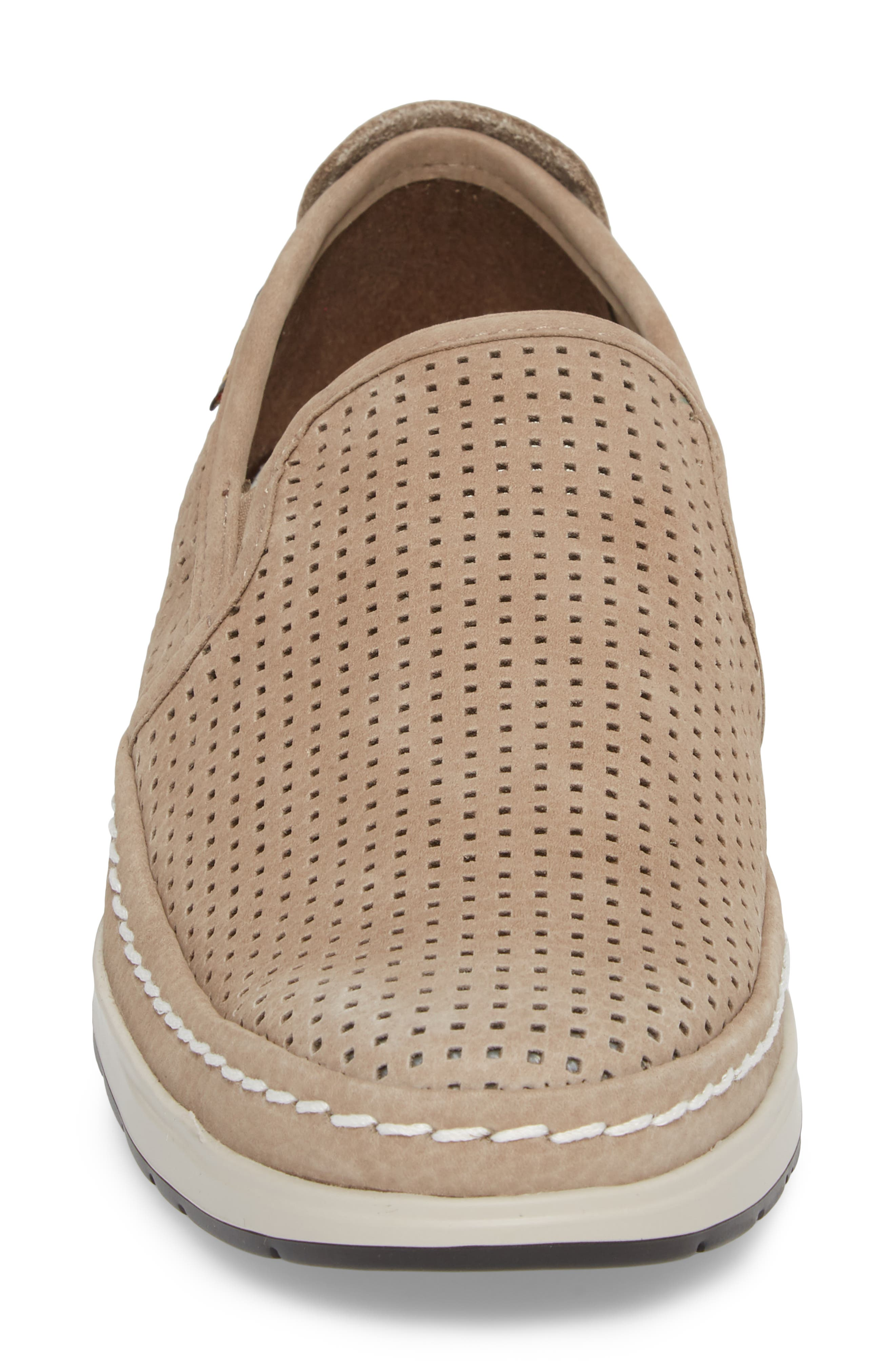 Hadrian Perforated Slip-On,                             Alternate thumbnail 4, color,                             SAND