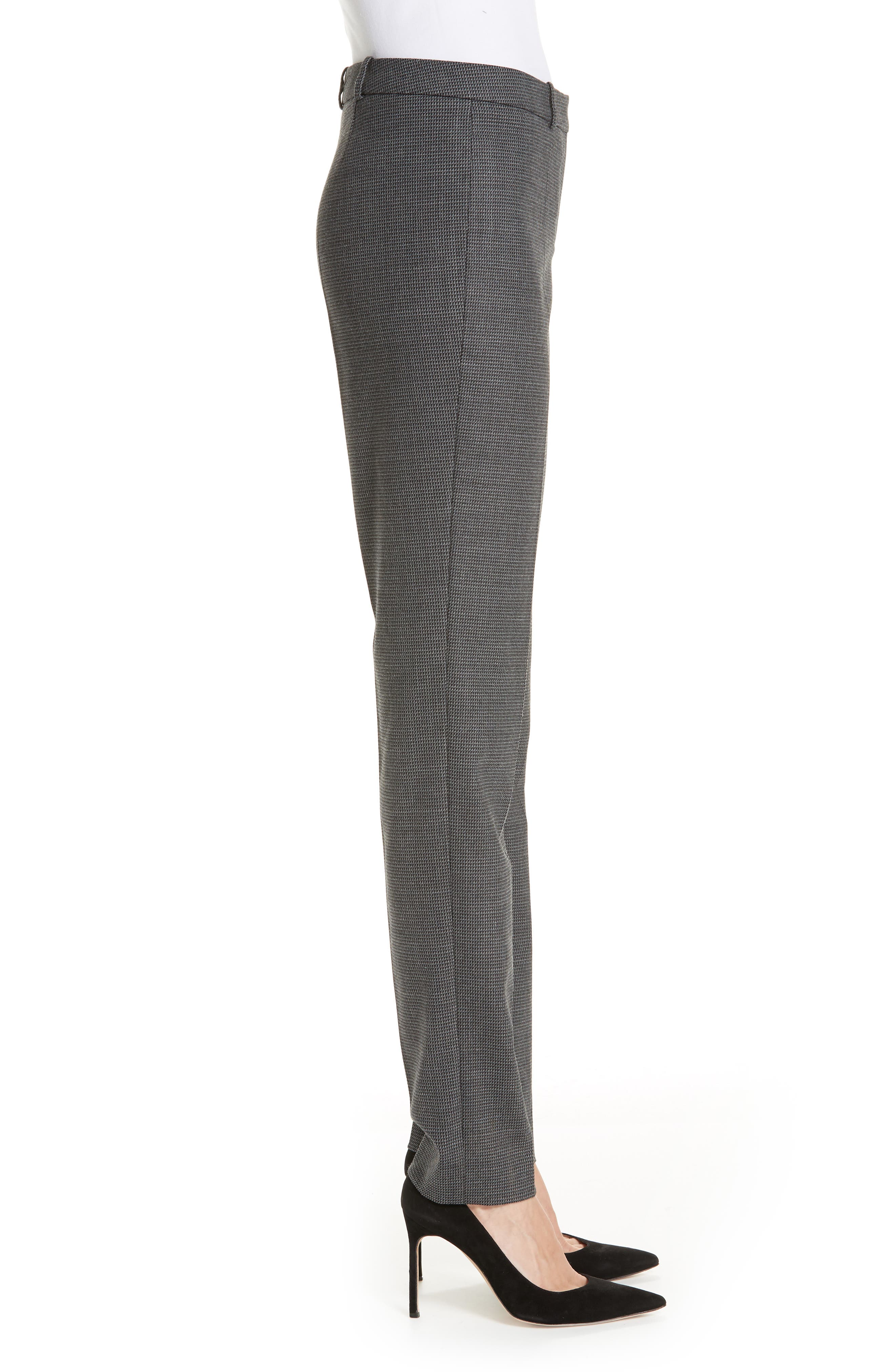 Tilunana Geometric Stretch Wool Blend Suit Trousers,                             Alternate thumbnail 3, color,                             GREY FANTASY