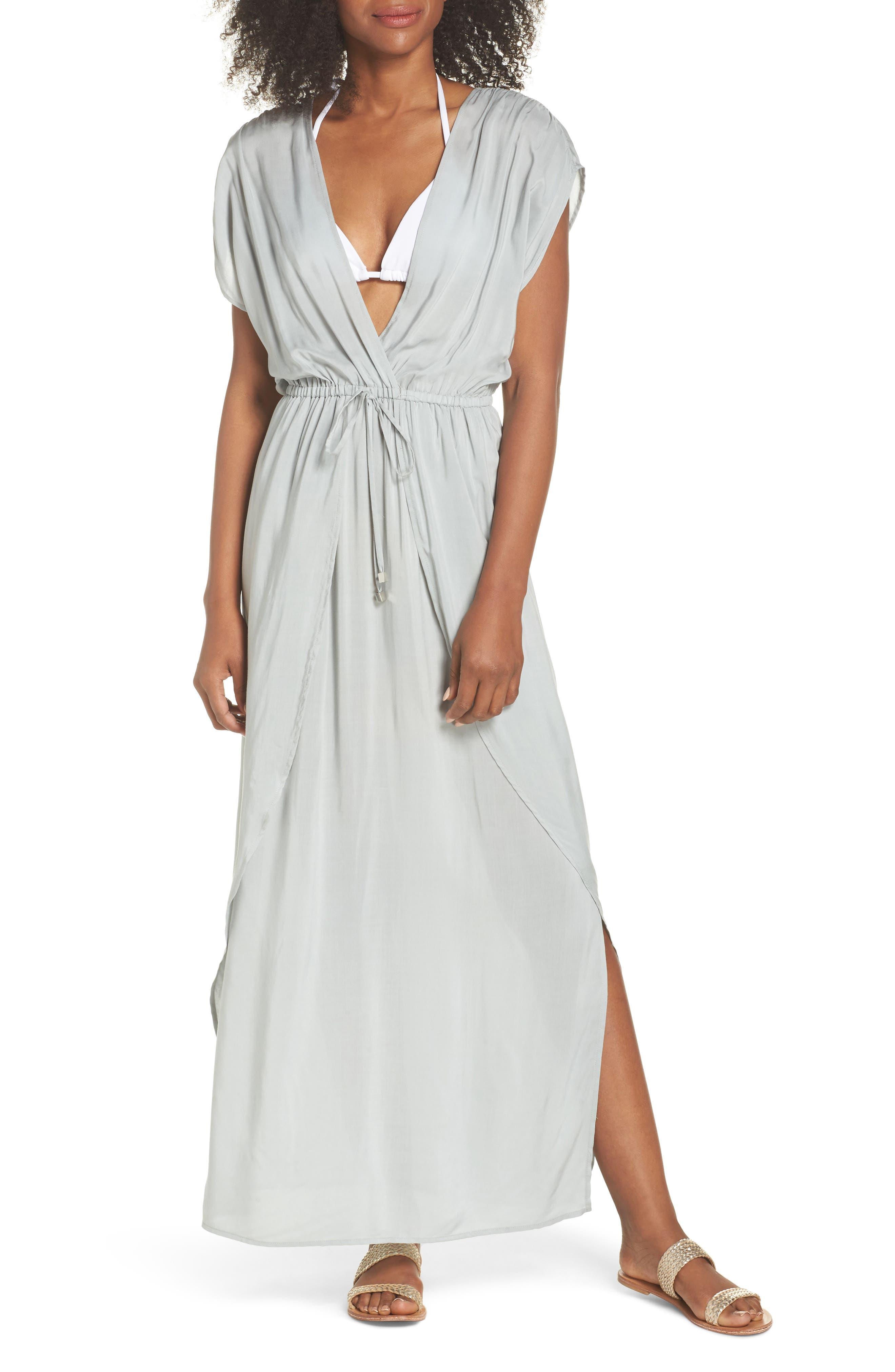 Wrap Maxi Cover-Up Dress,                             Main thumbnail 2, color,
