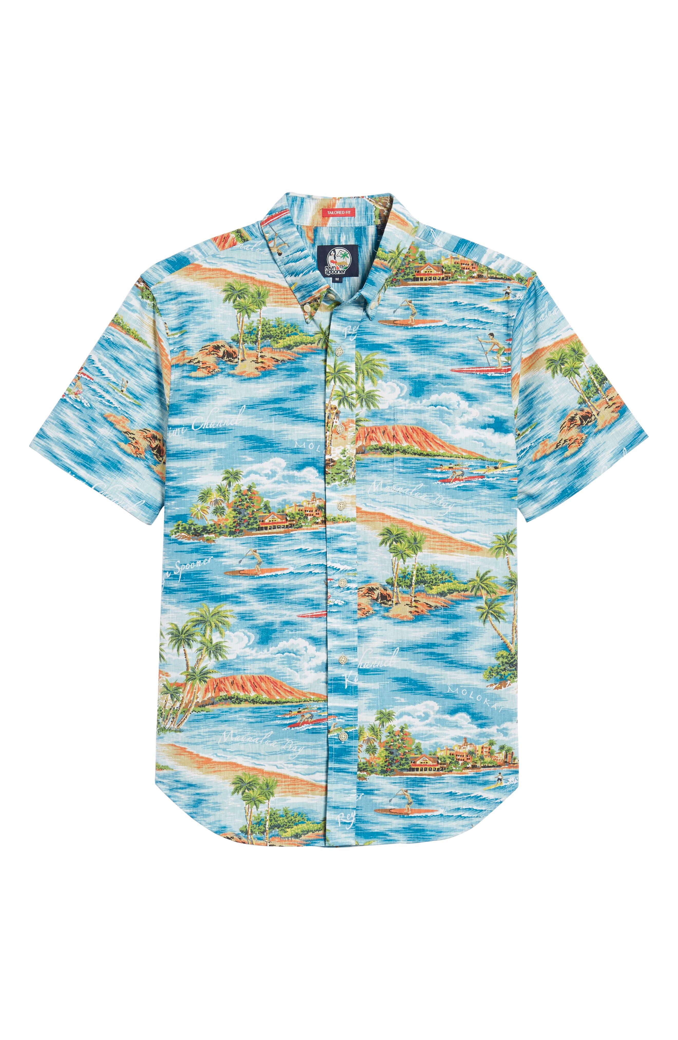 Downward Paddler Tailored Fit Sport Shirt,                             Alternate thumbnail 6, color,                             470