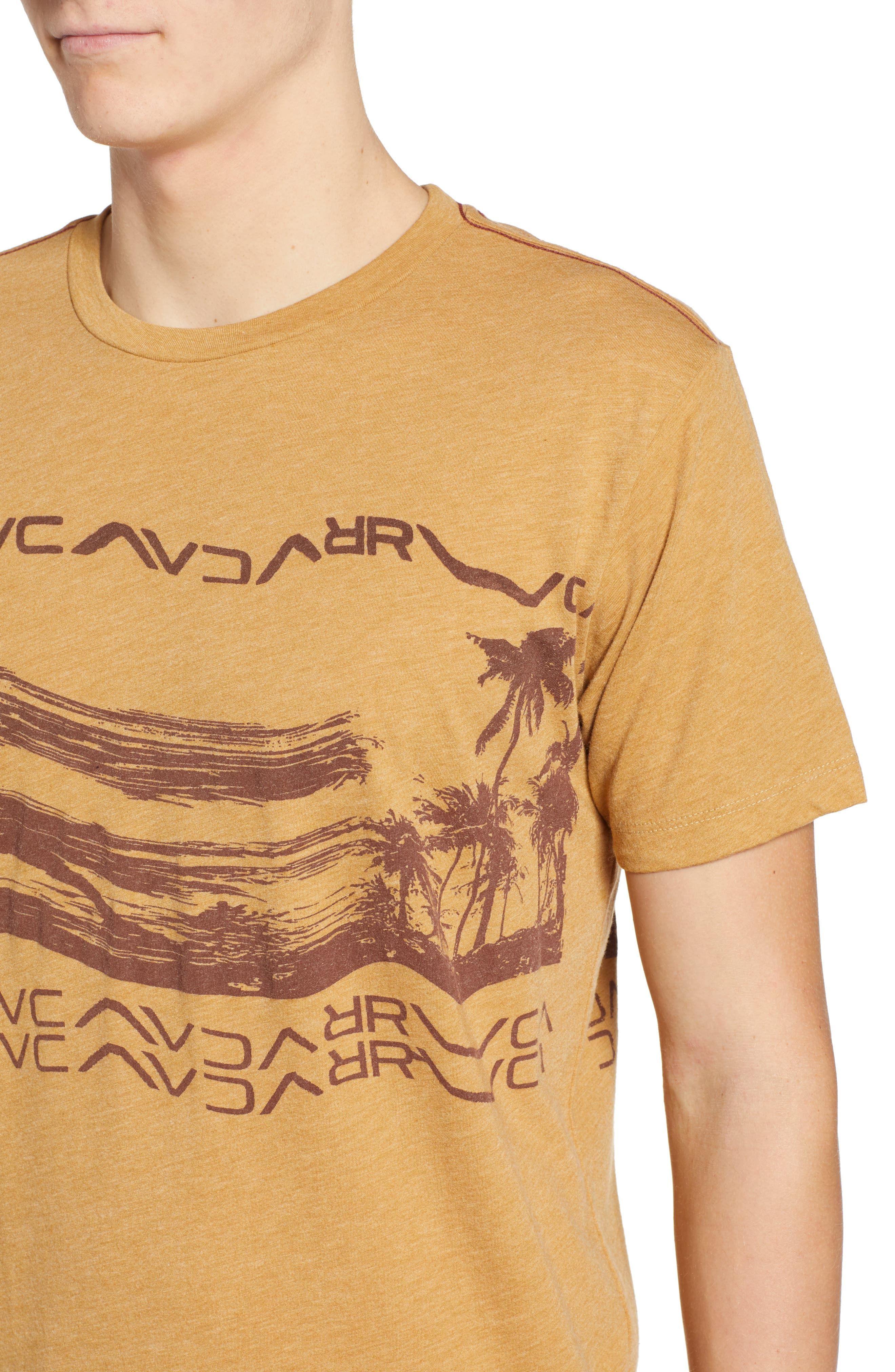 Warped Palm Graphic T-Shirt,                             Alternate thumbnail 4, color,                             APPLE CINNAMON