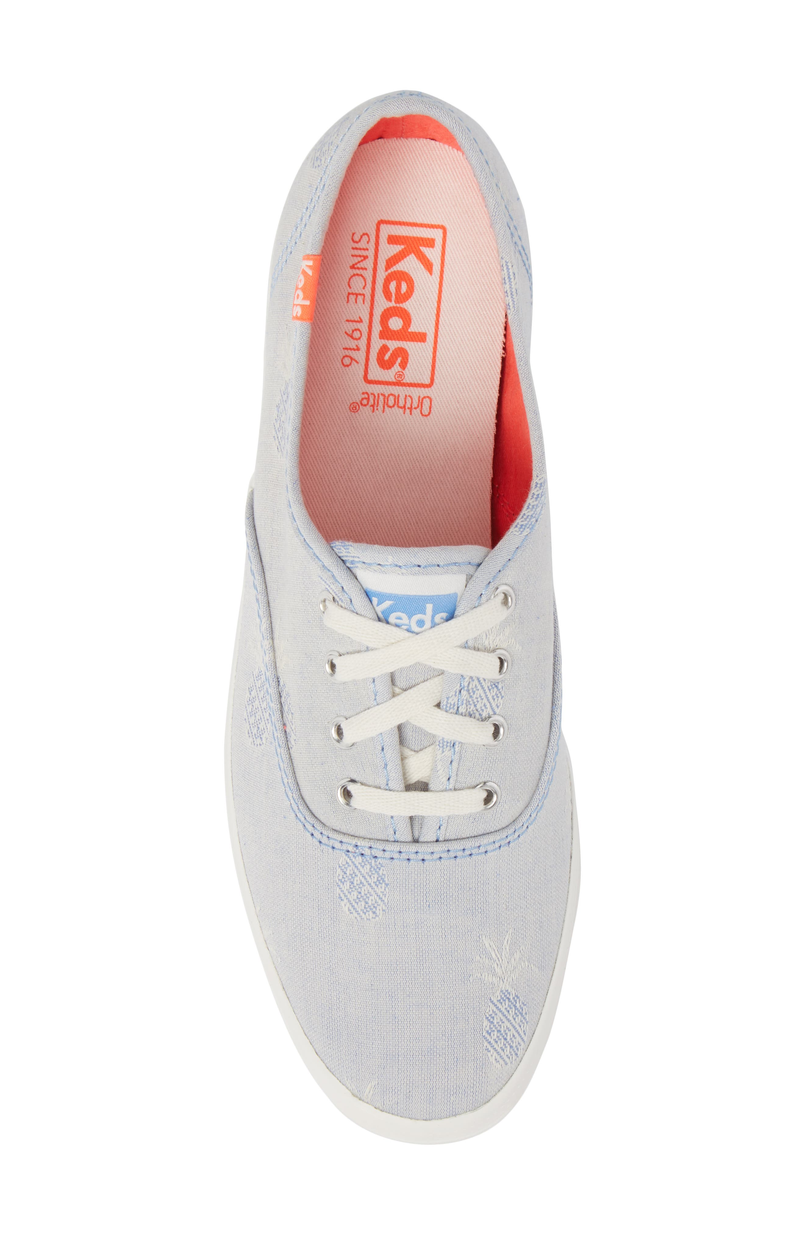 Champion Pineapple Chambray Sneaker,                             Alternate thumbnail 5, color,                             400