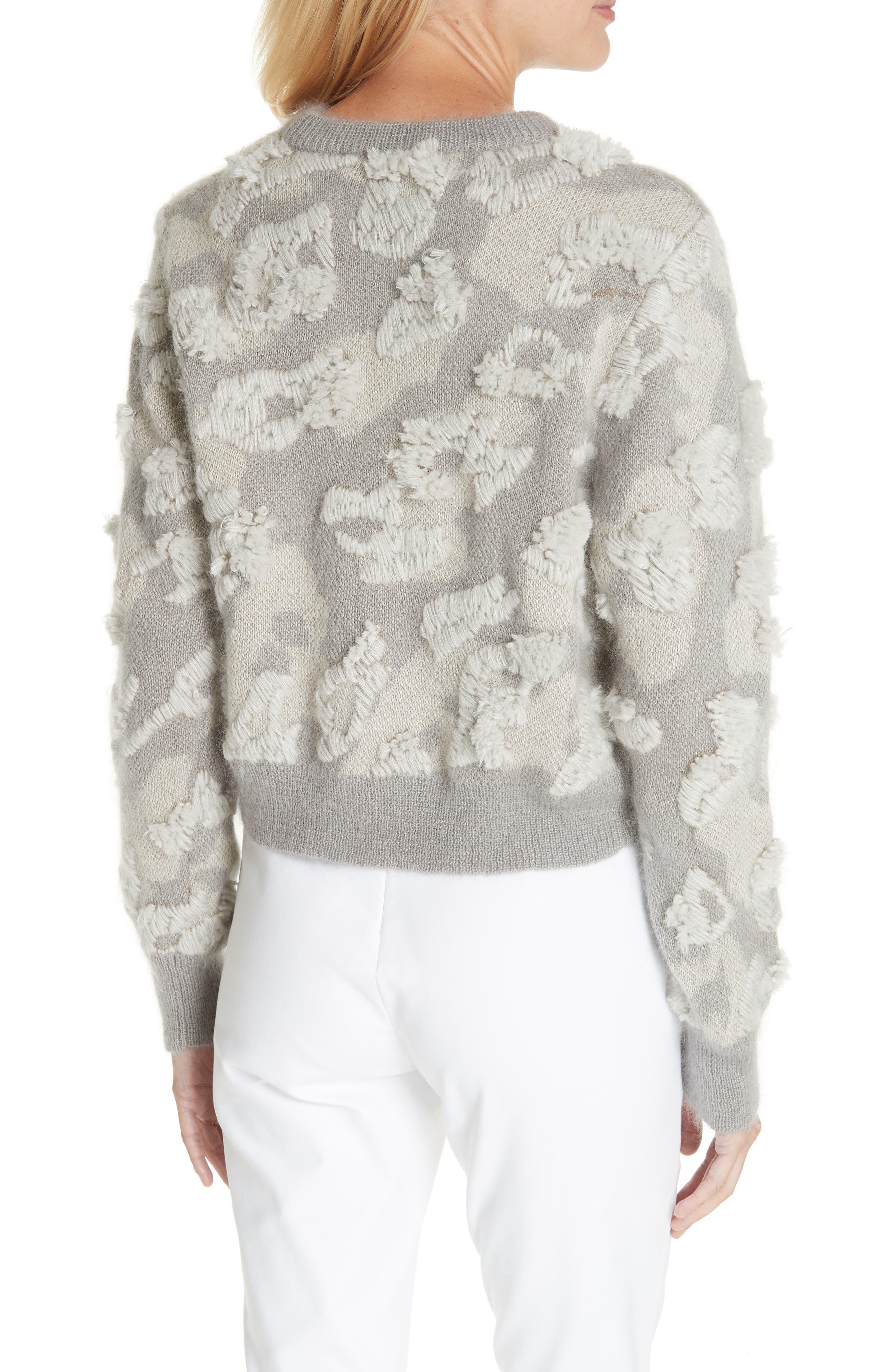 RAG & BONE,                             Embroidered Leopard Spot Sweater,                             Alternate thumbnail 2, color,                             900