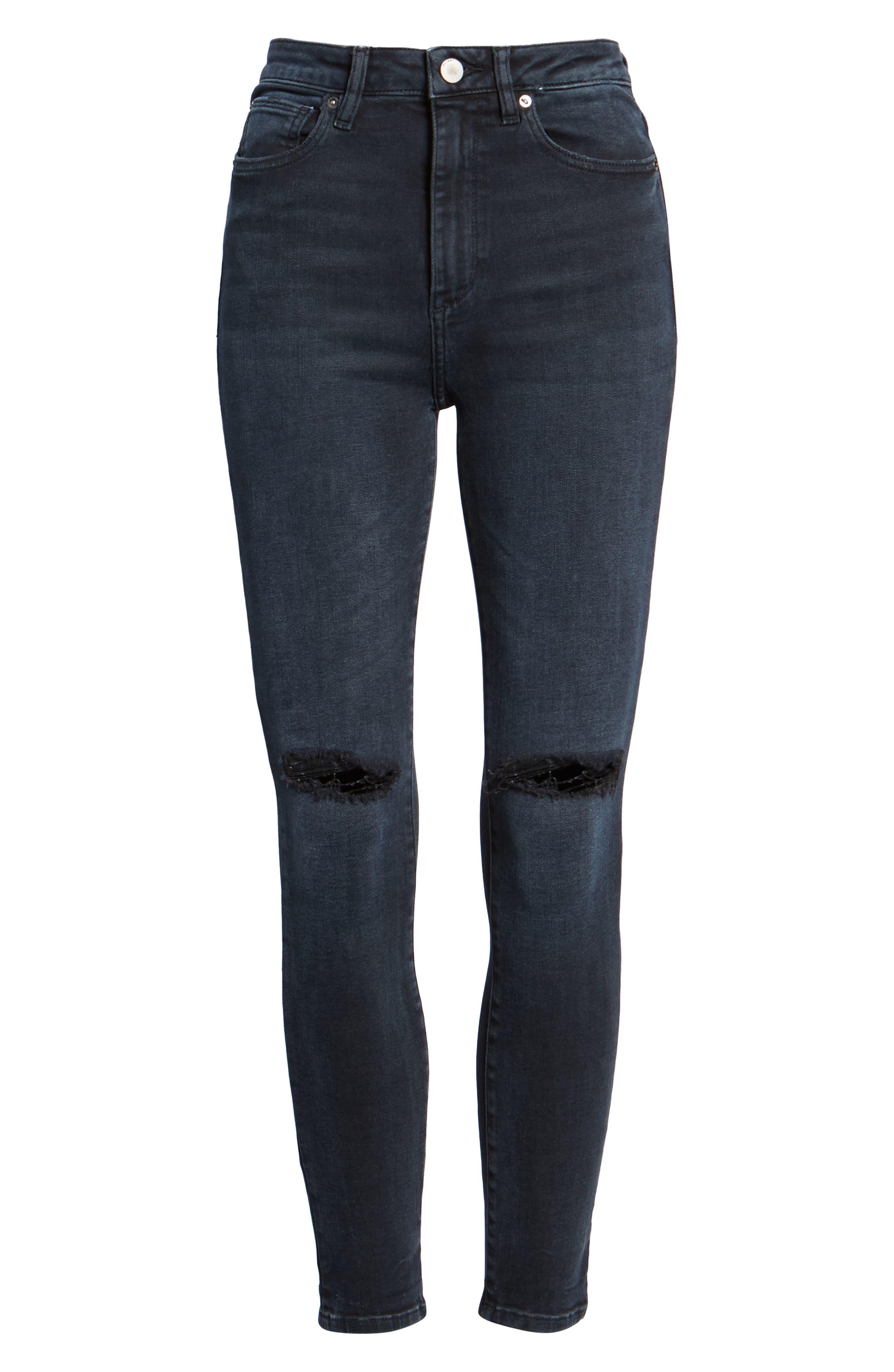 Chrissy Ultra High Waist Ankle Skinny Jeans,                             Alternate thumbnail 7, color,                             PORTER