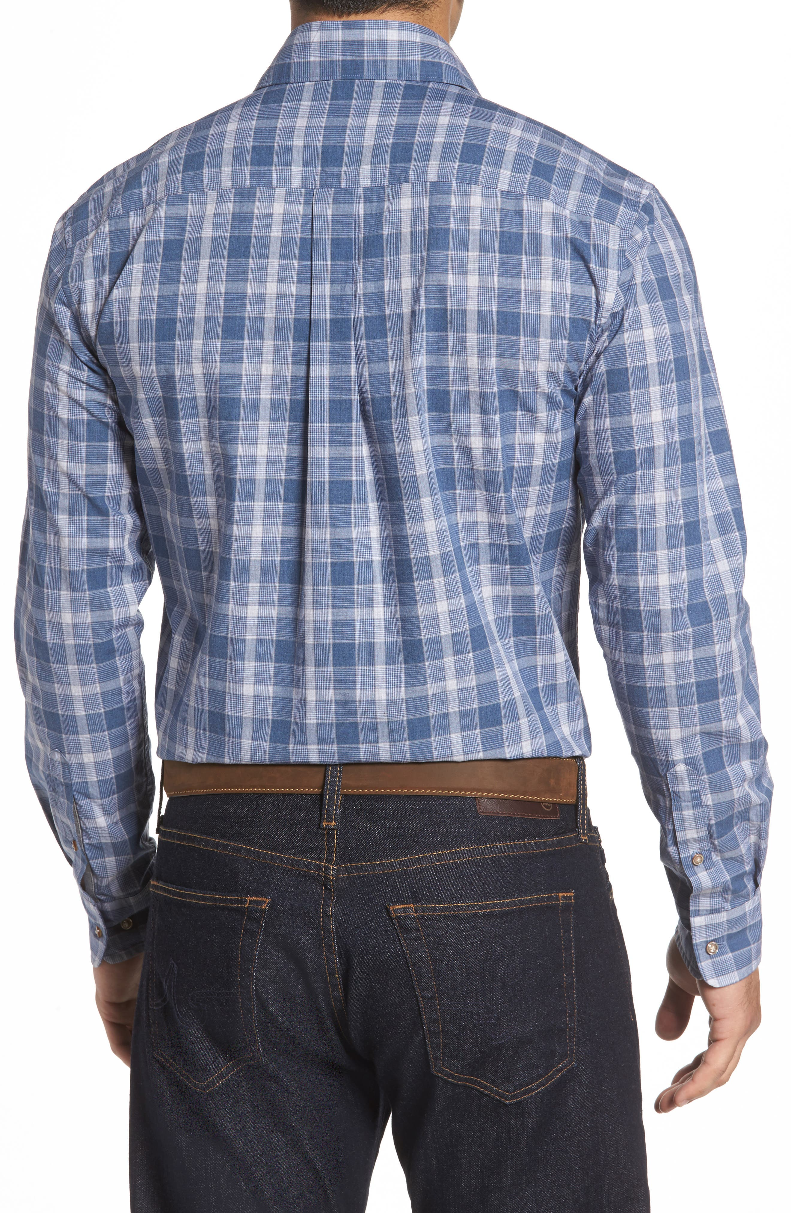 Highlands Classic Fit Plaid Sport Shirt,                             Alternate thumbnail 2, color,                             464