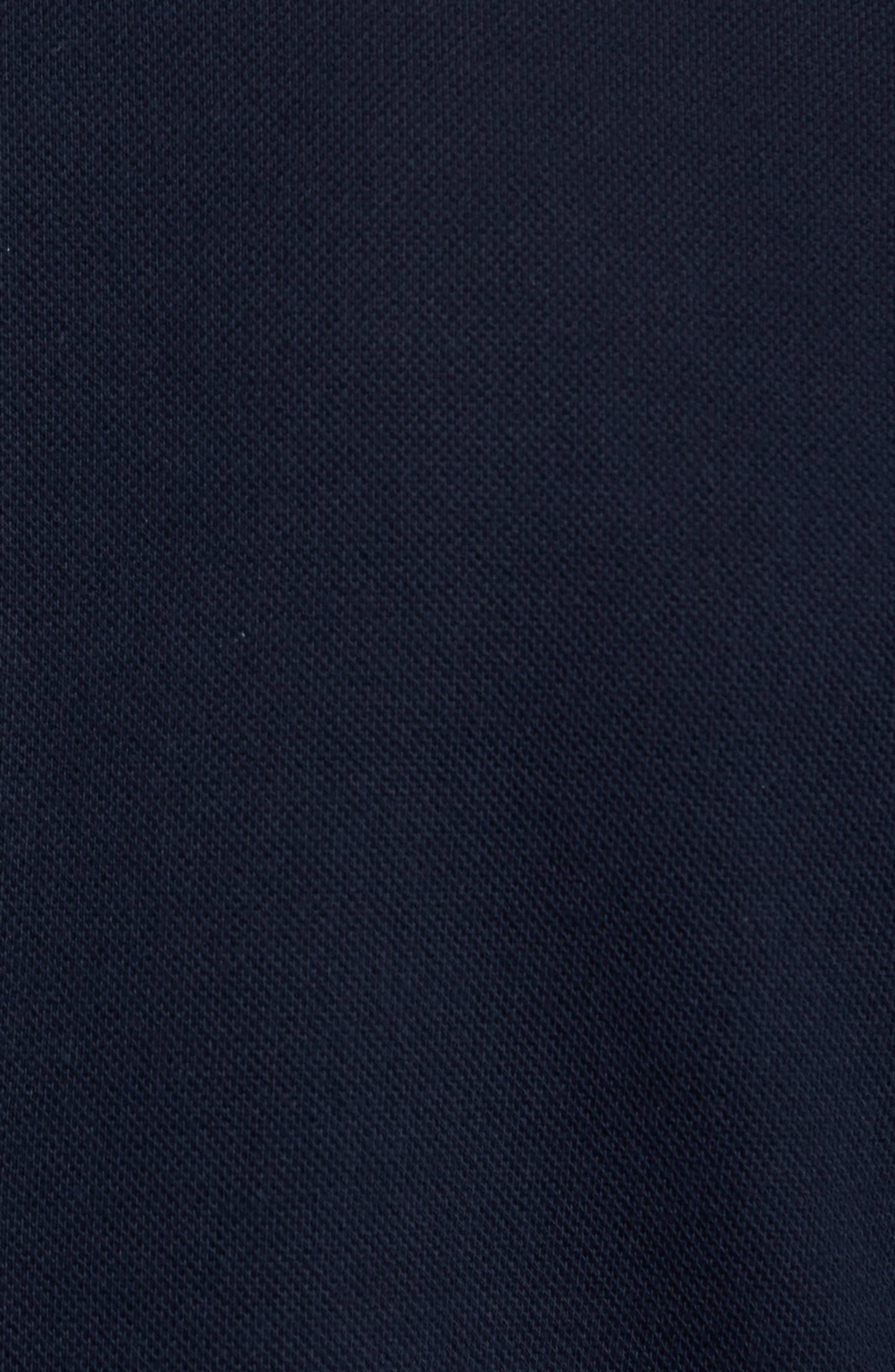 Knit Bib Inset Three-Button Jacket,                             Alternate thumbnail 6, color,                             410