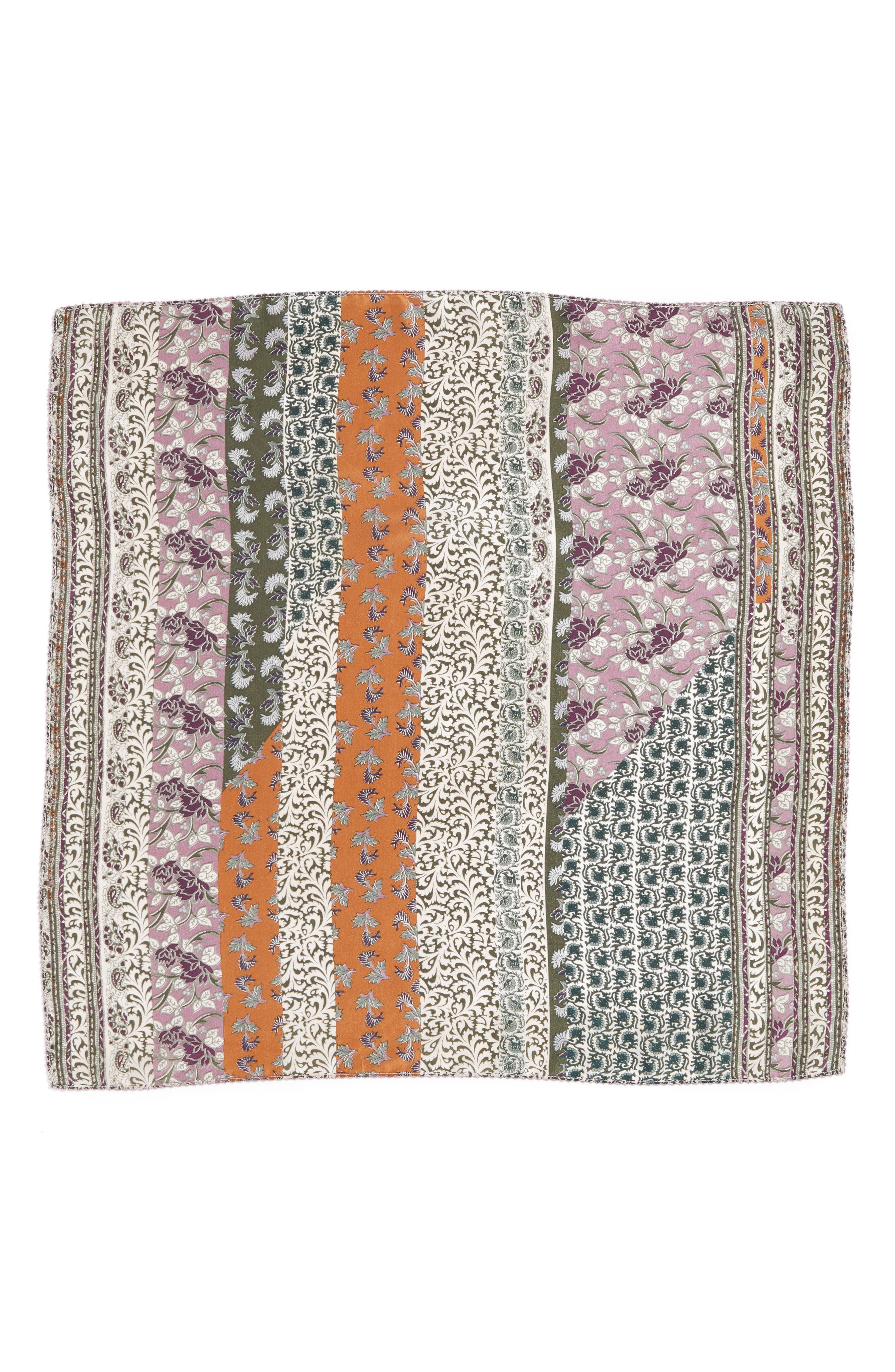 Bloomsbury Square Silk Scarf,                             Alternate thumbnail 3, color,                             315