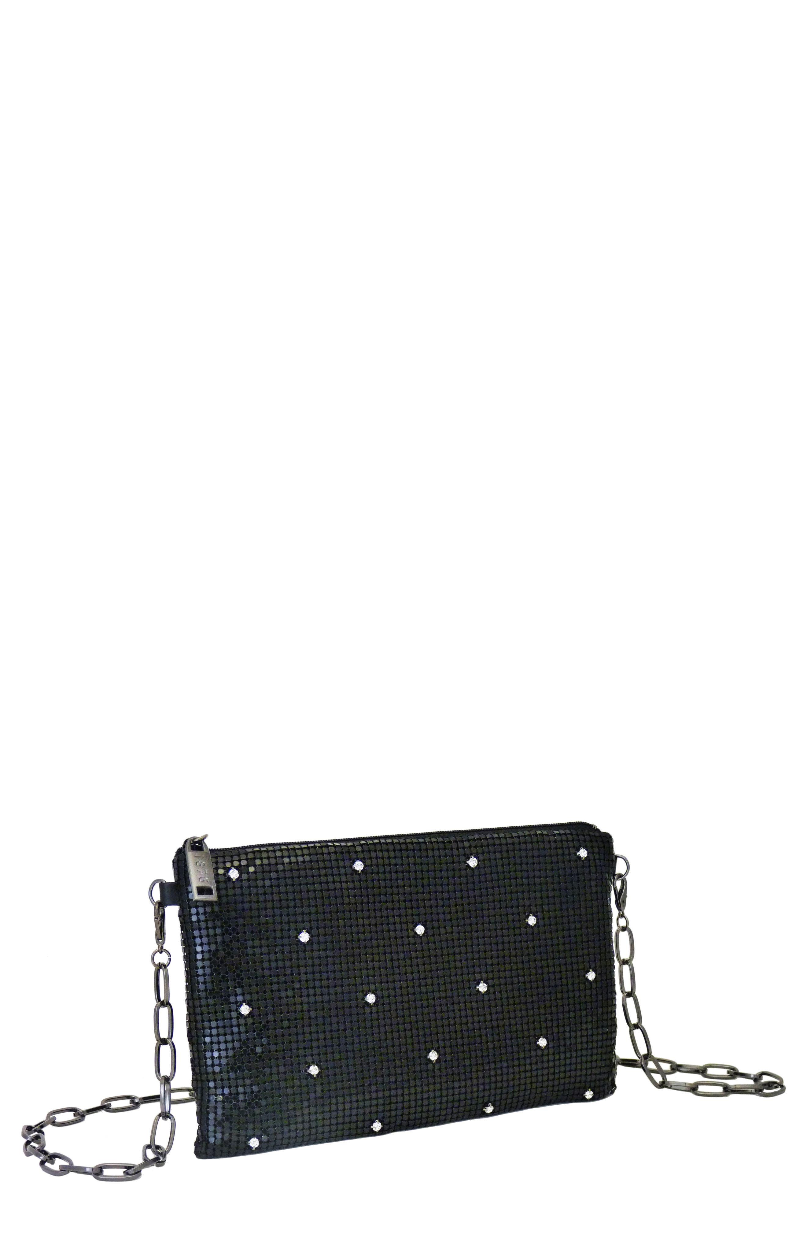 WHITING & DAVIS Crystal Belt Bag - Black