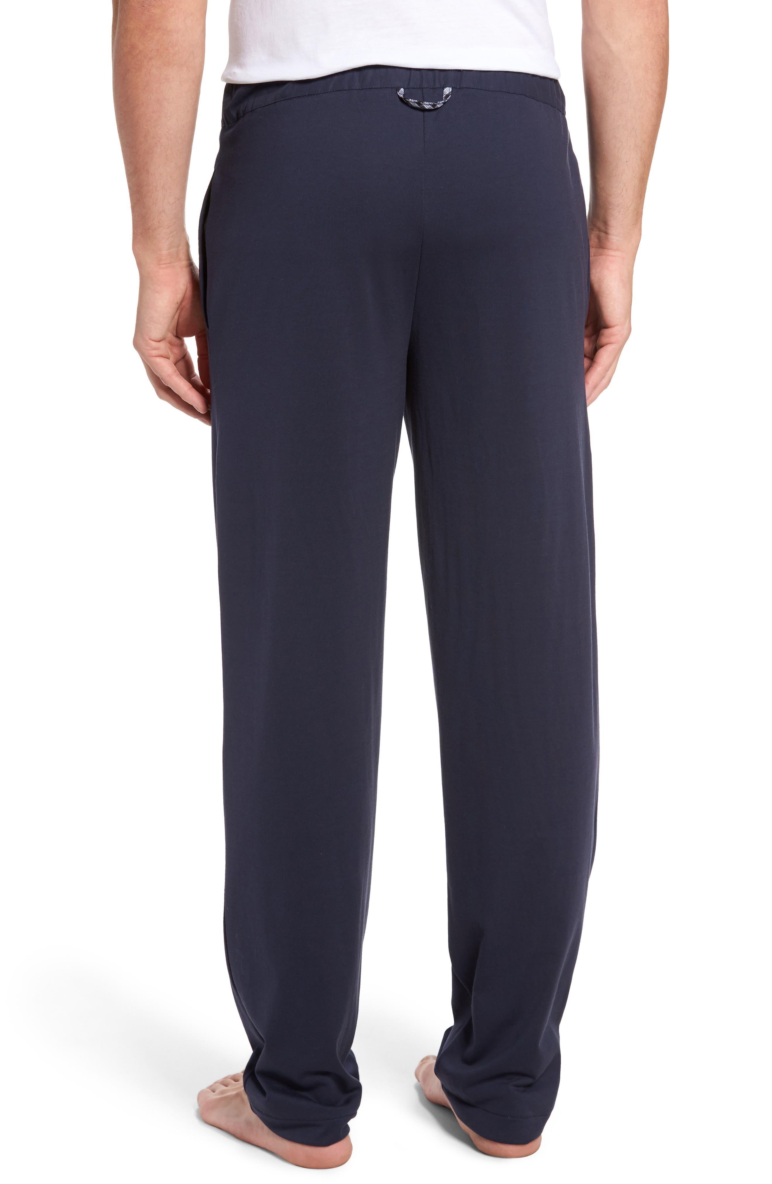 HANRO,                             Night & Day Knit Lounge Pants,                             Alternate thumbnail 2, color,                             BLACK IRIS