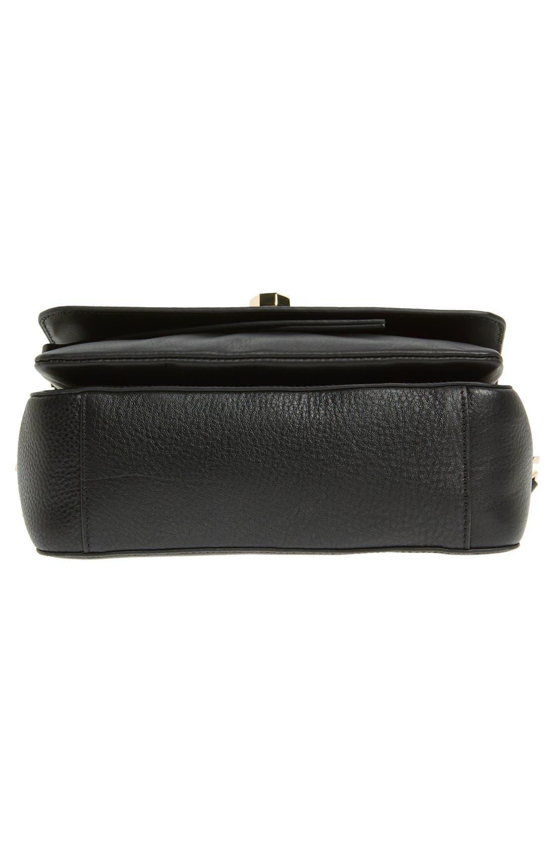 'Small Alis' Leather Crossbody Bag,                             Alternate thumbnail 5, color,                             001