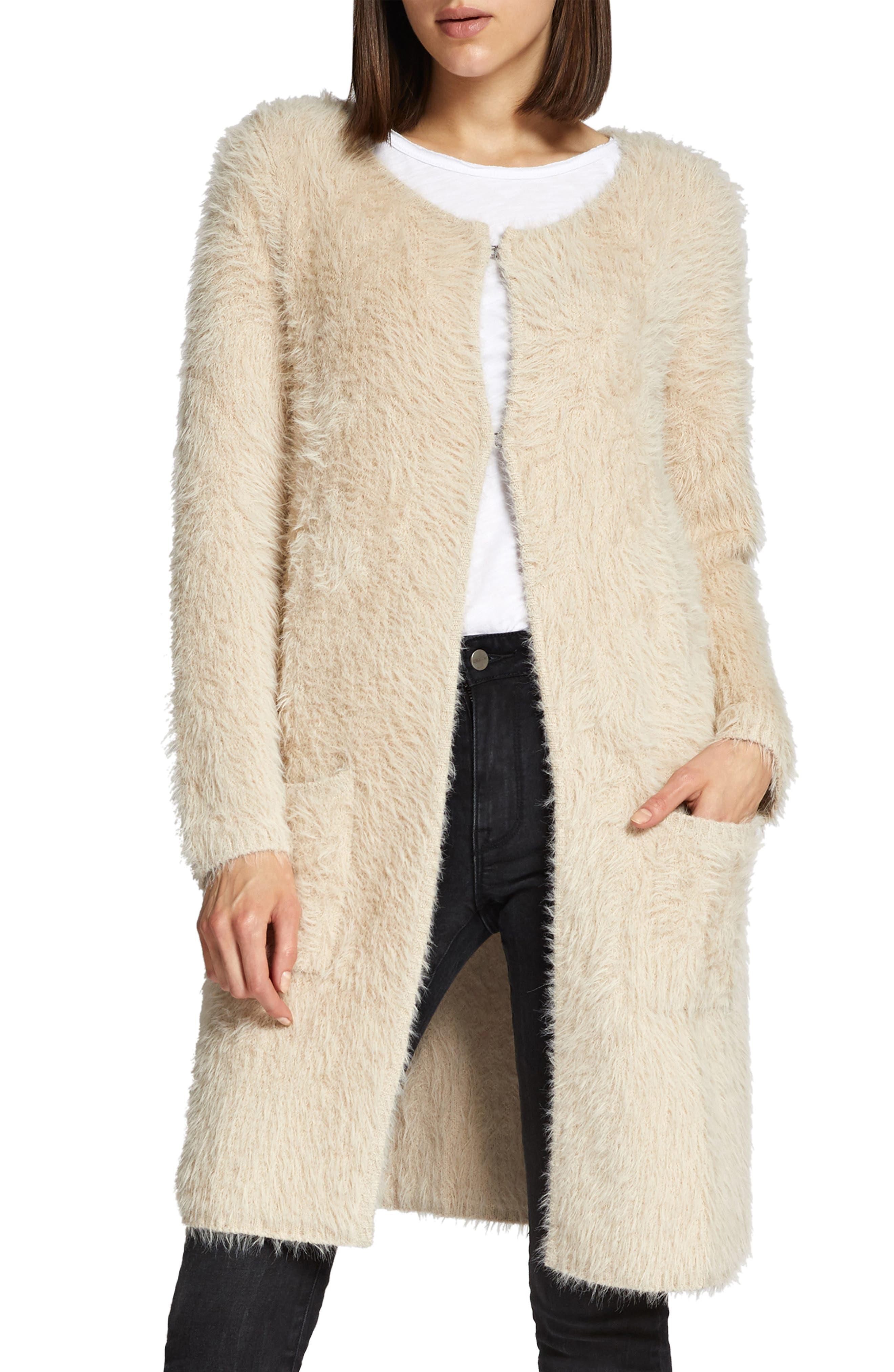 Faux Fur City Coat,                             Main thumbnail 1, color,                             250