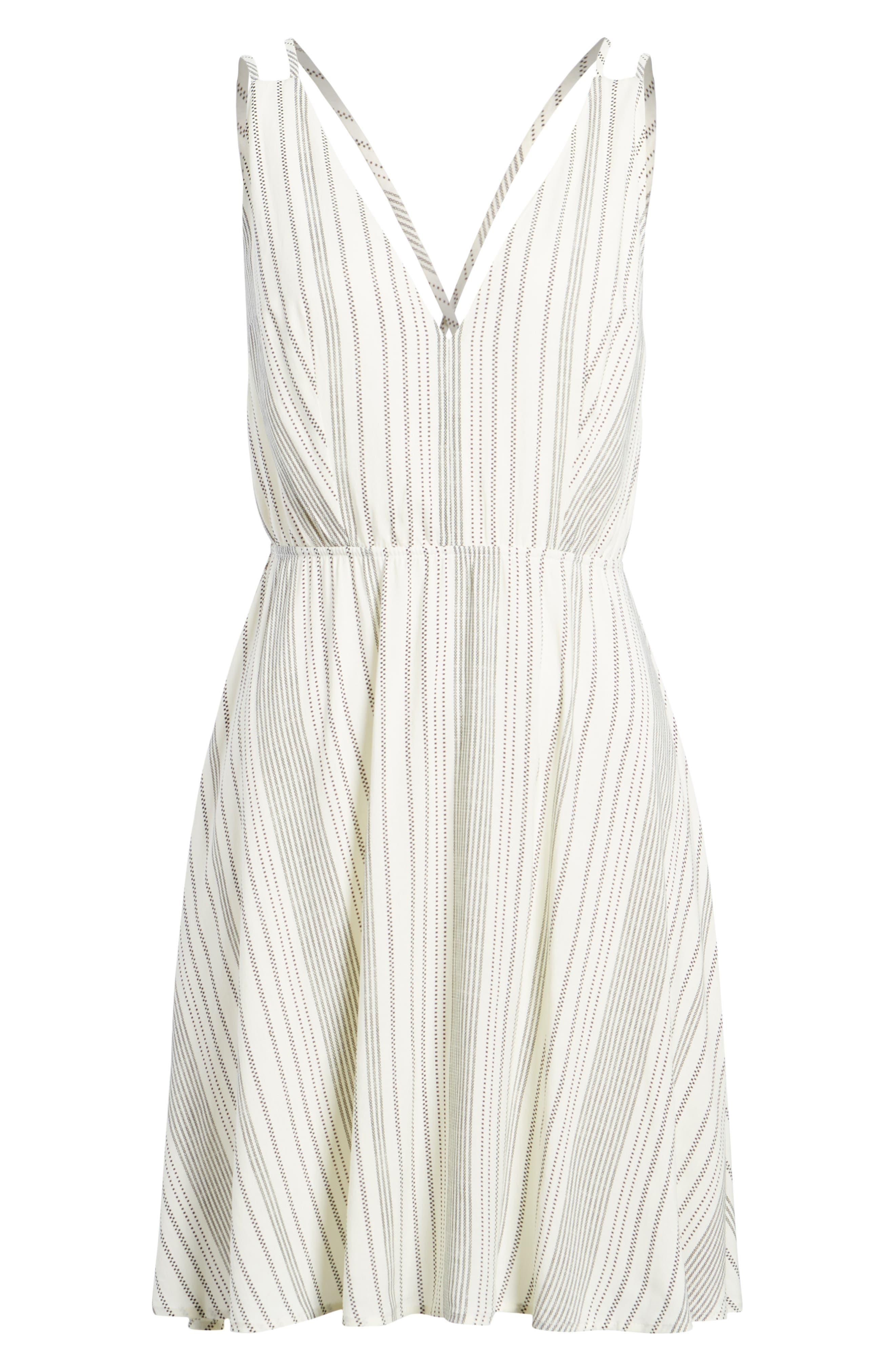 Stripe Strappy Swing Dress,                             Alternate thumbnail 7, color,                             900