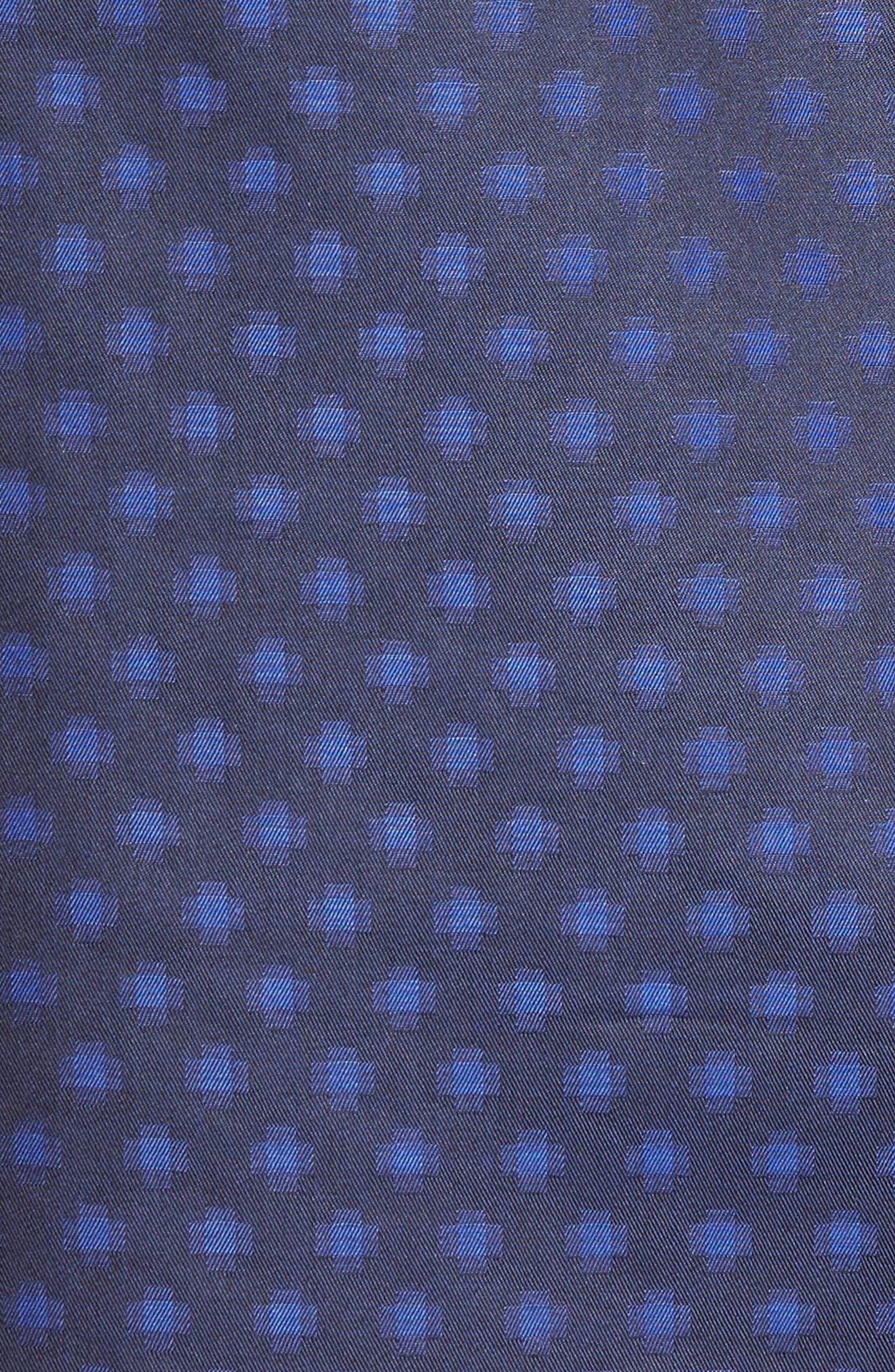 Shaped Fit Print Sport Shirt,                             Alternate thumbnail 5, color,