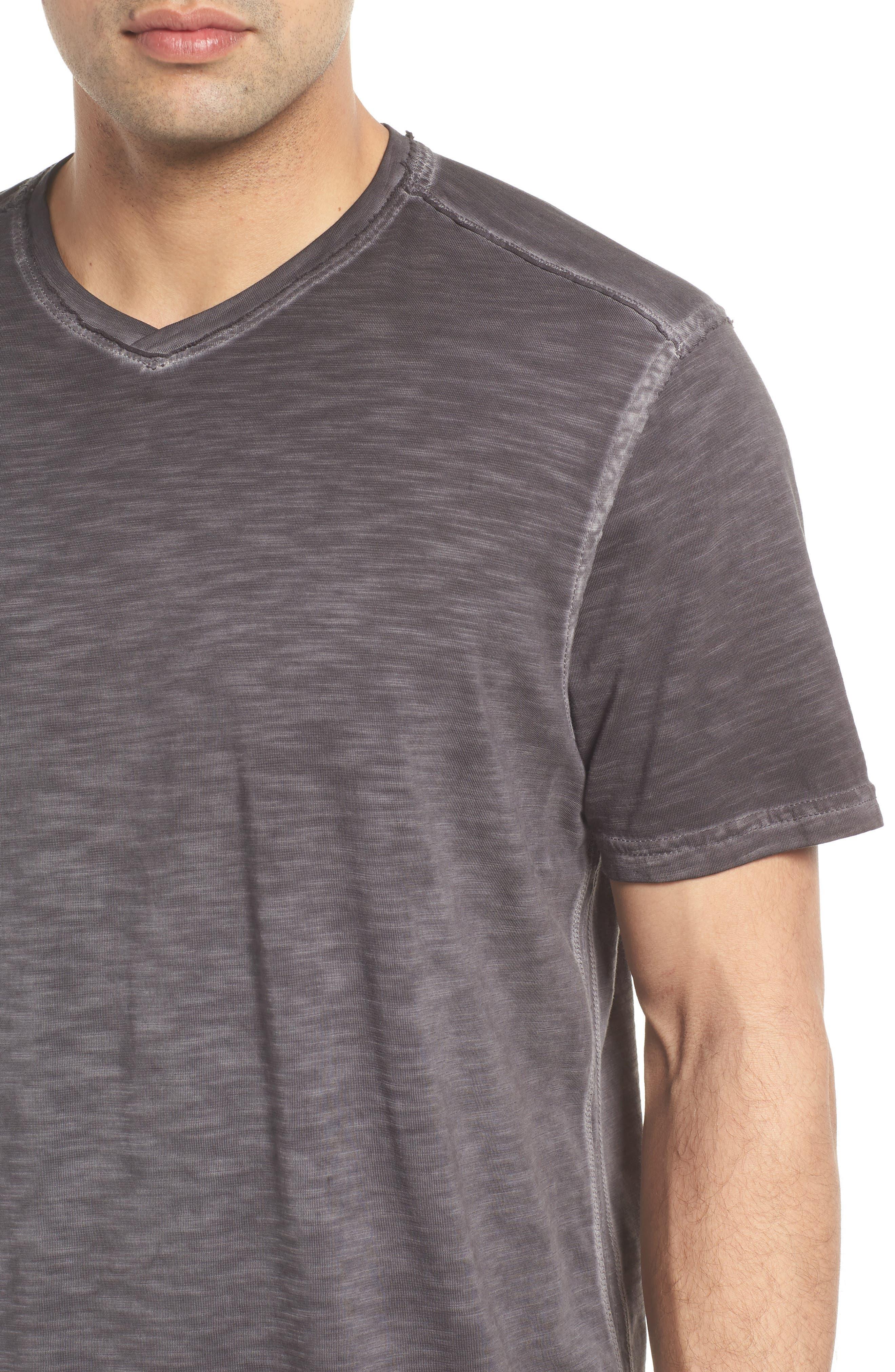 Suncoast Shores V-Neck T-Shirt,                             Alternate thumbnail 4, color,                             COAL