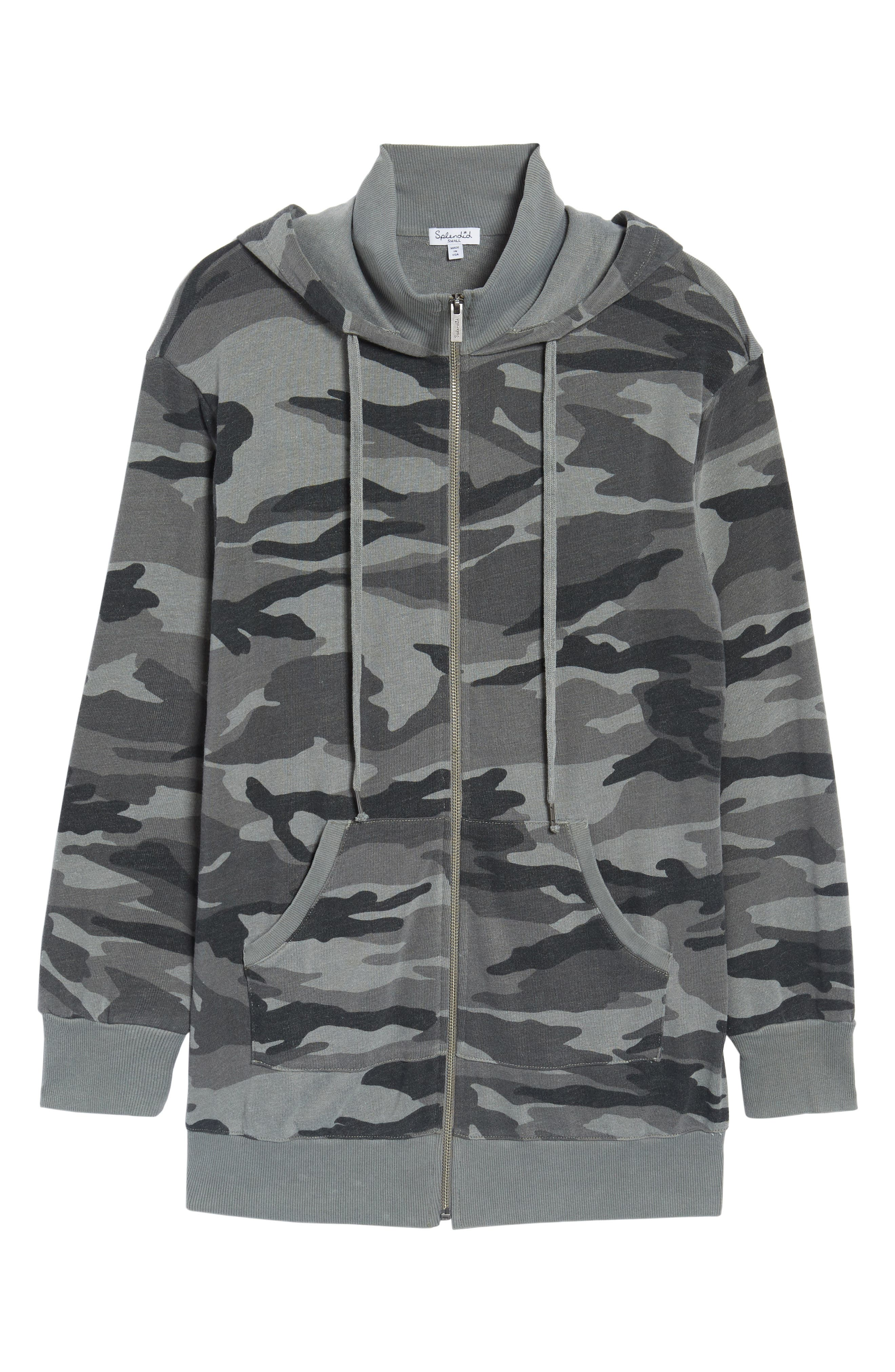 French Terry Camo Sweatshirt,                             Alternate thumbnail 6, color,                             301