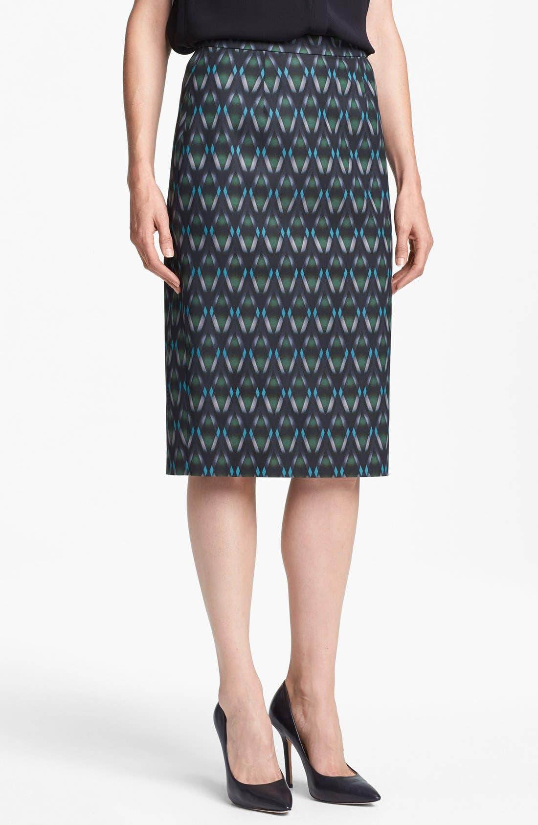 Print Pencil Skirt,                             Main thumbnail 7, color,