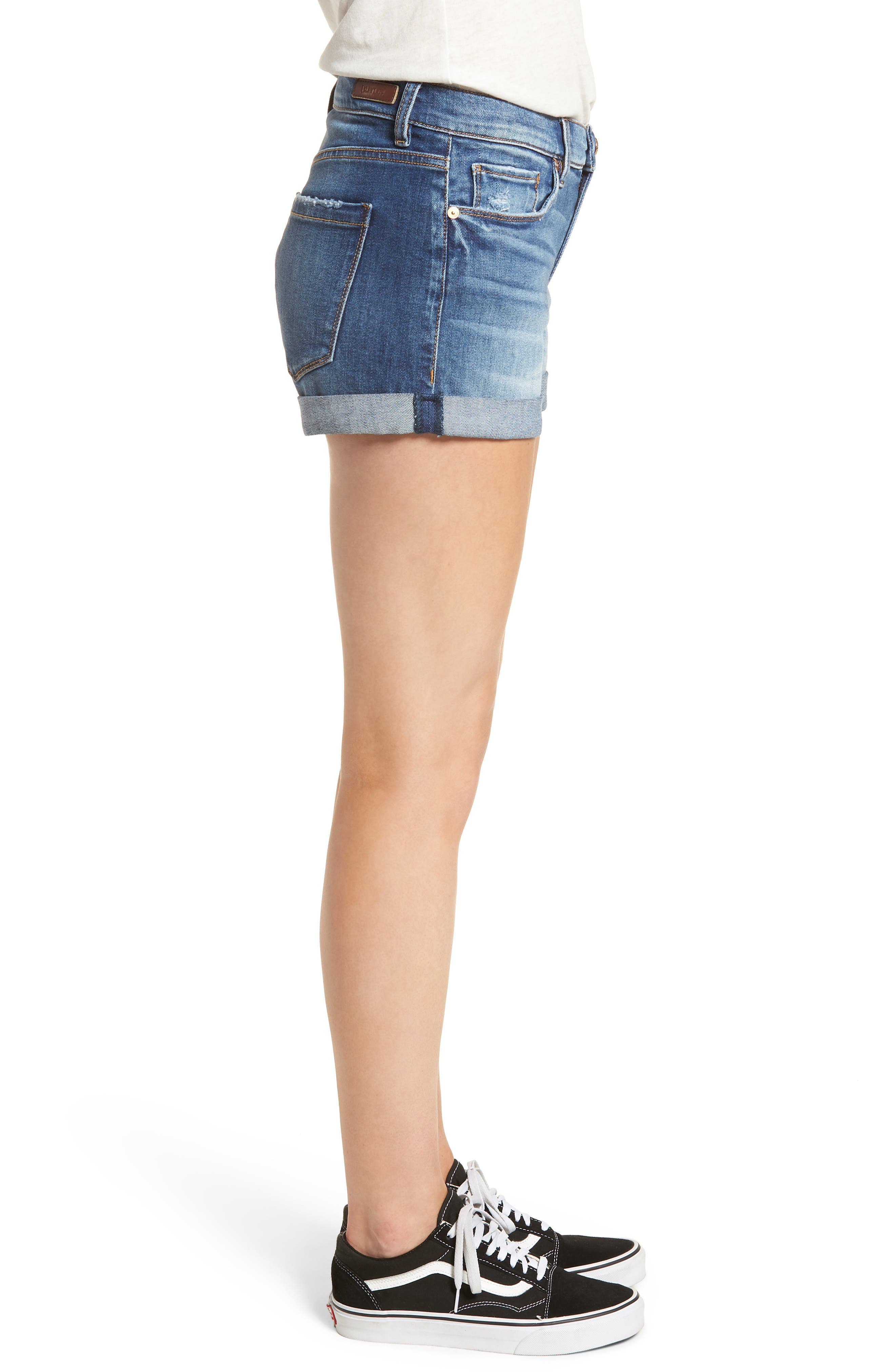 The Fulton Cuffed Denim Shorts,                             Alternate thumbnail 3, color,                             400