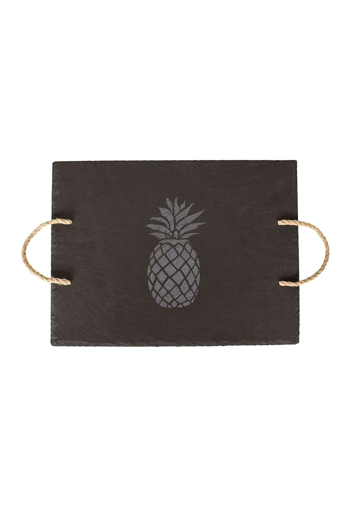 Pineapple Slate Serving Tray,                             Alternate thumbnail 2, color,                             020