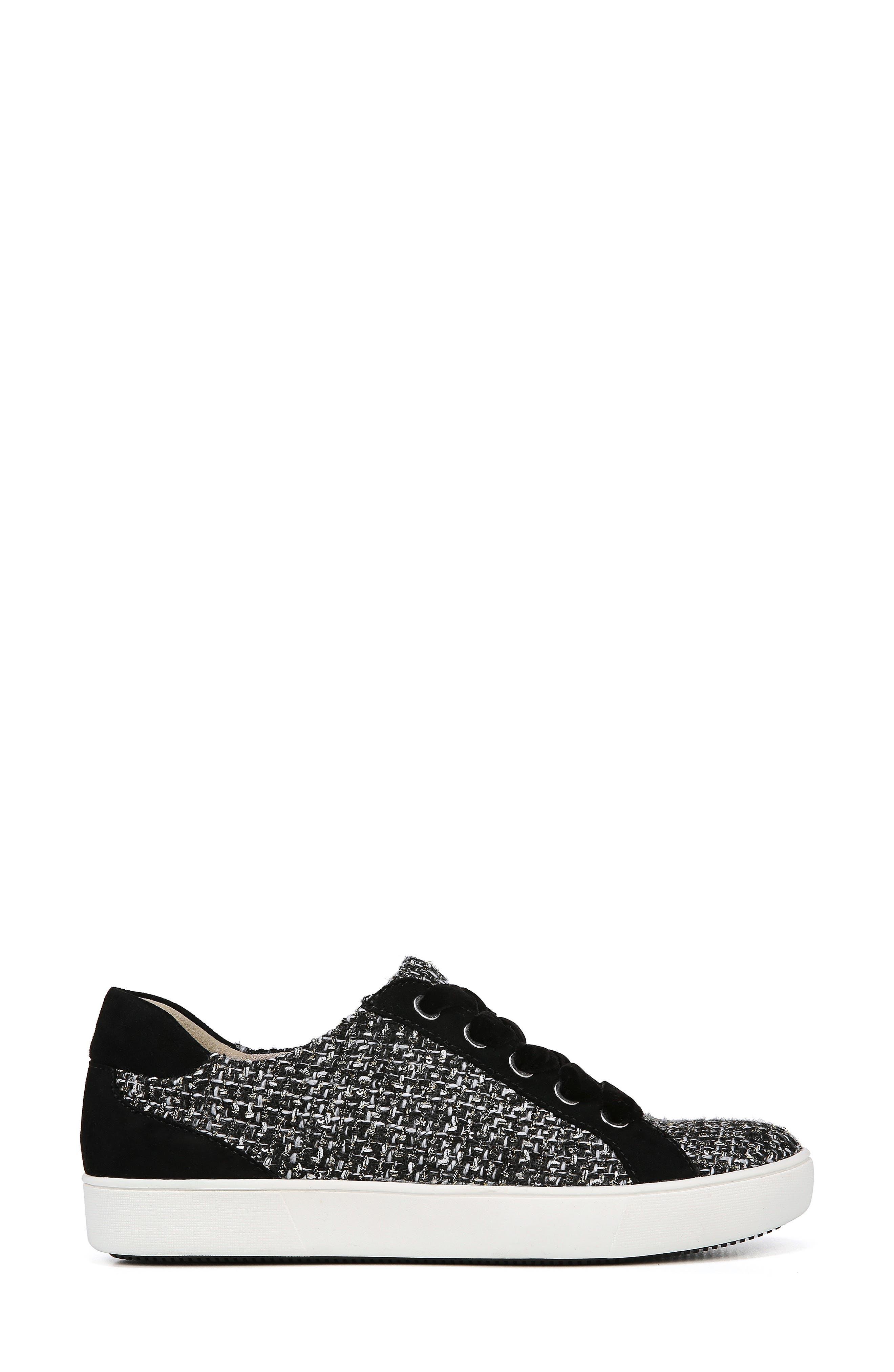 Morrison Sneaker,                             Alternate thumbnail 3, color,                             BLACK/ WHITE TWEED FABRIC