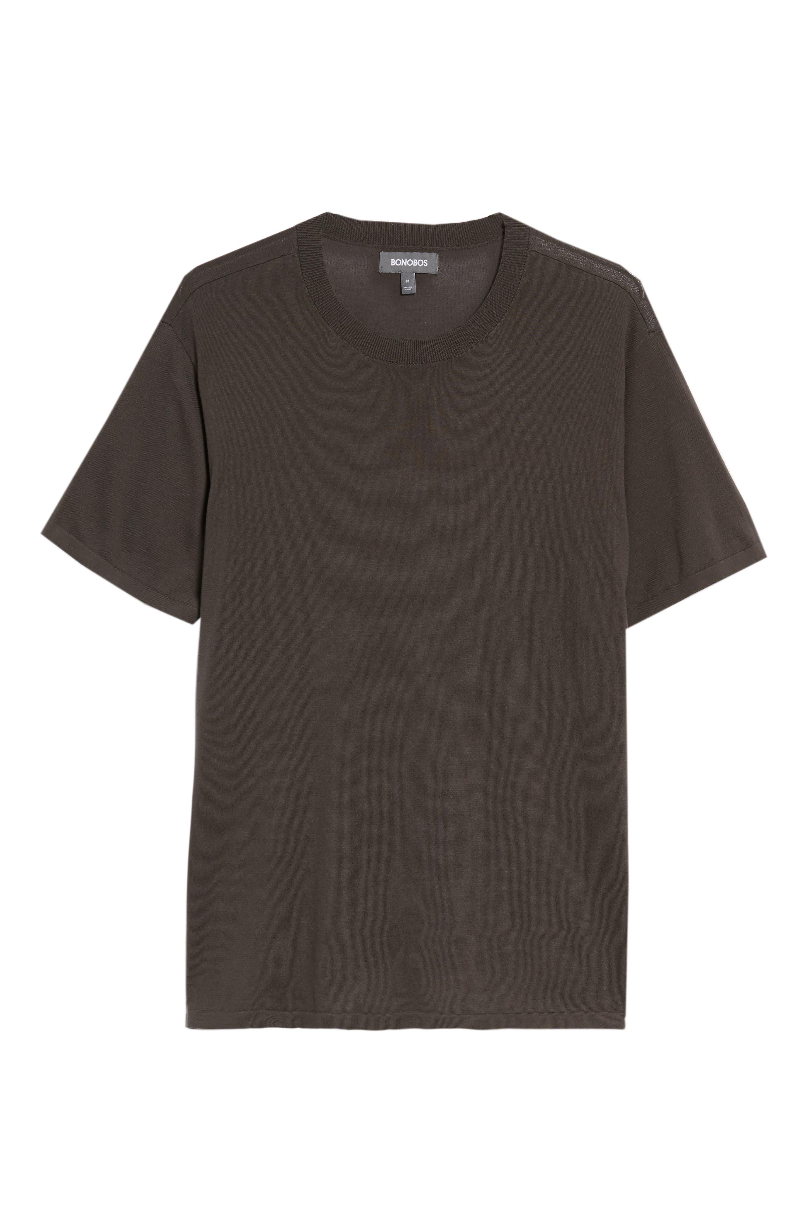 Slim Fit Pima Cotton Sweater T-Shirt,                             Alternate thumbnail 6, color,                             020