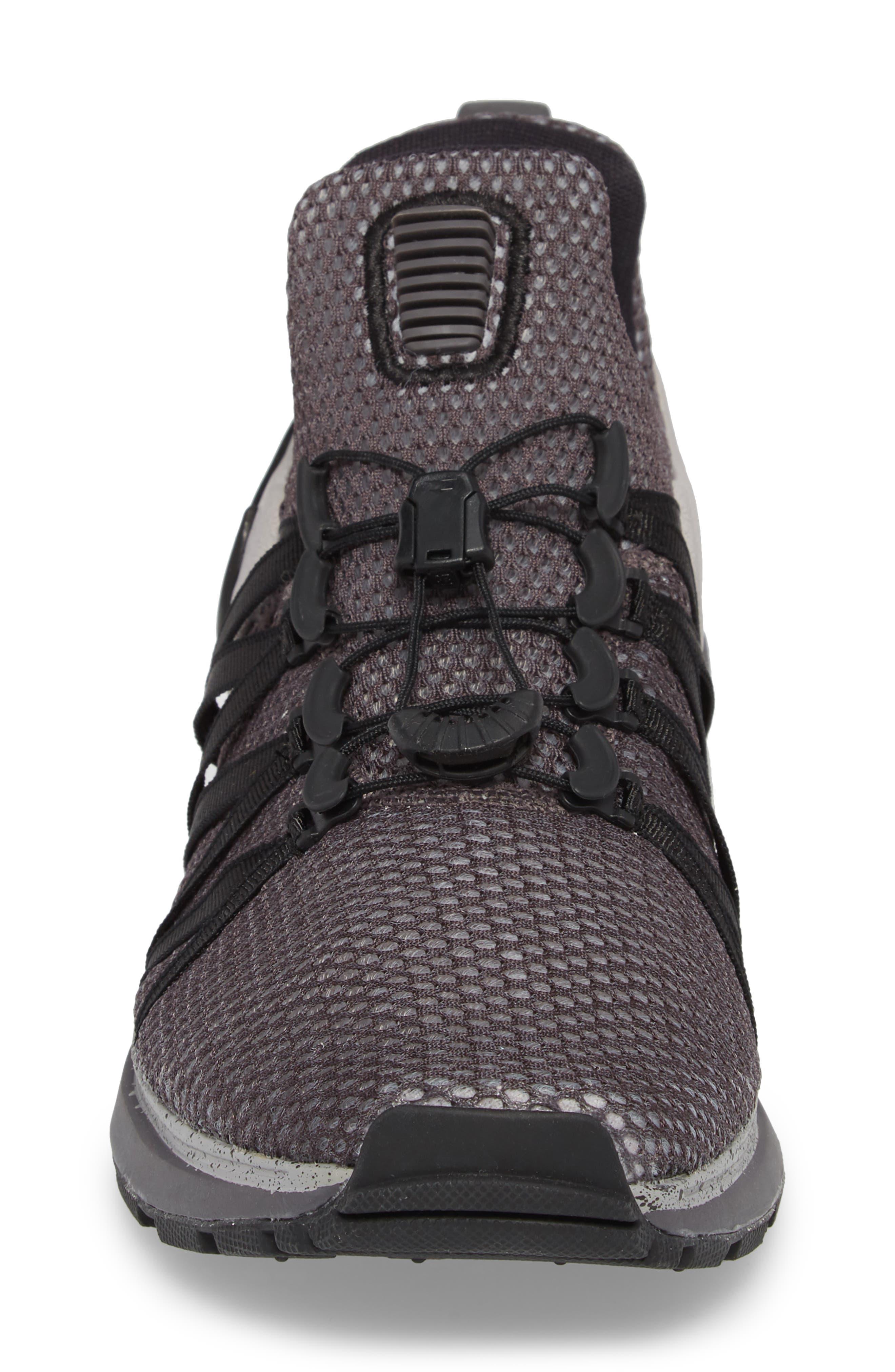 Shox Gravity Sneaker,                             Alternate thumbnail 4, color,                             ATMOSPHERE GREY/ BLACK/ GREY