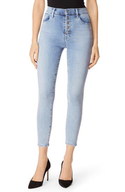 J Brand Jeans LILLIE HIGH WAIST CROP SKINNY JEANS