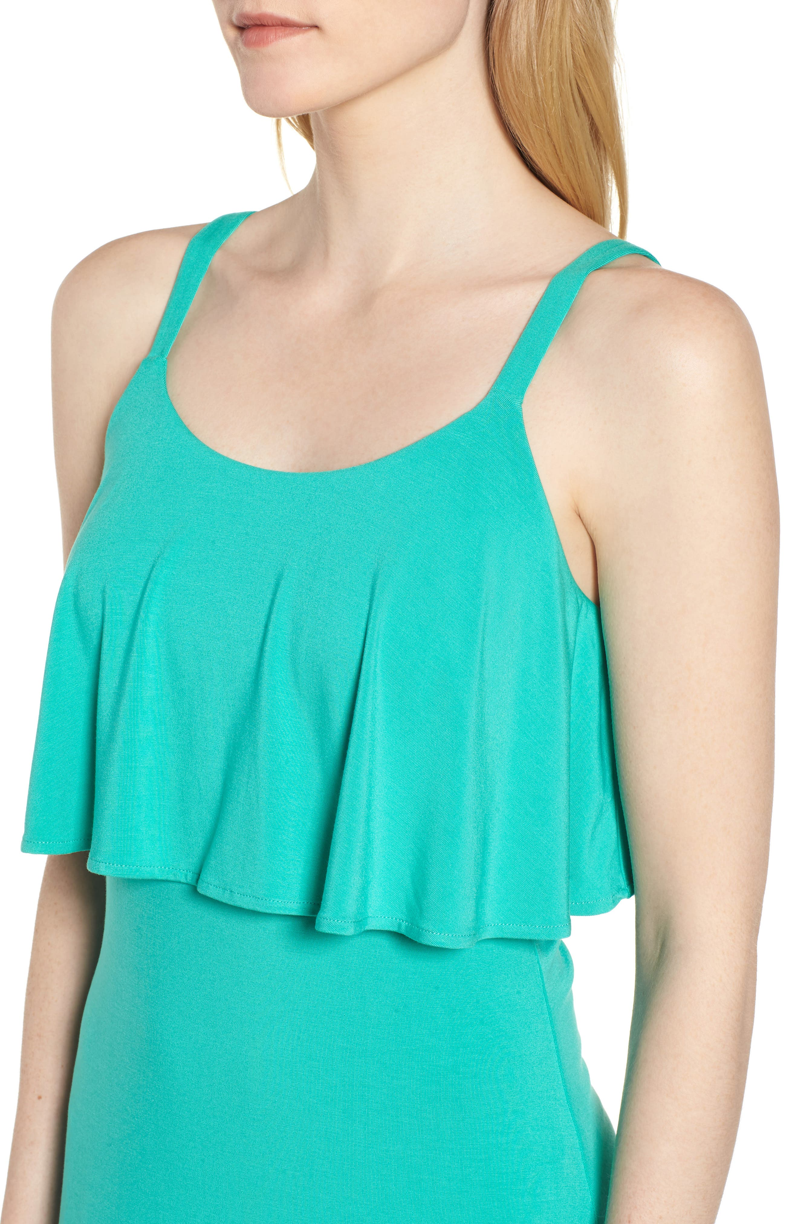 Flounce Front Dress,                             Alternate thumbnail 4, color,                             300