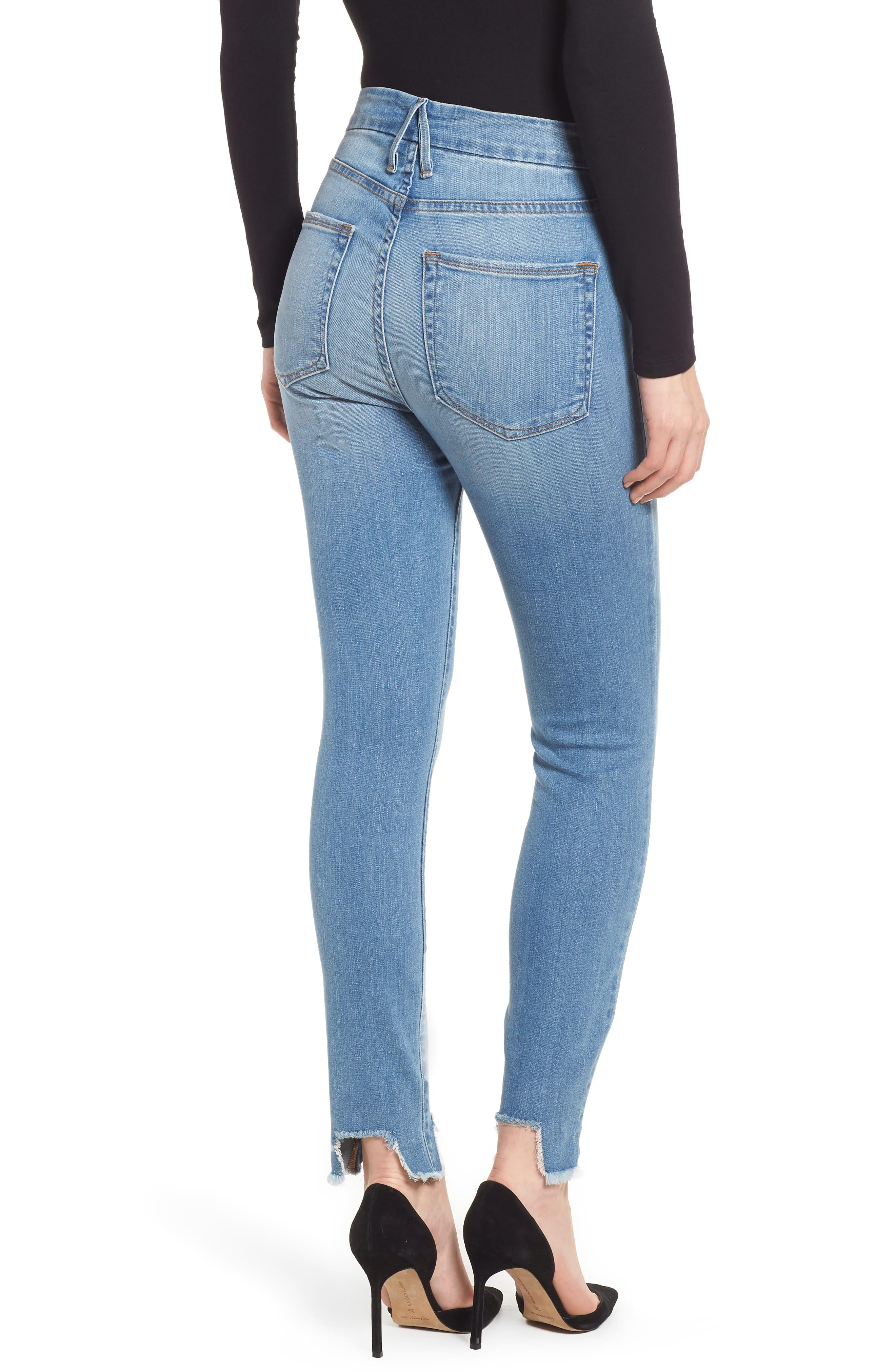 Good Waist Tunnel Hem Skinny Jeans,                             Alternate thumbnail 2, color,                             402