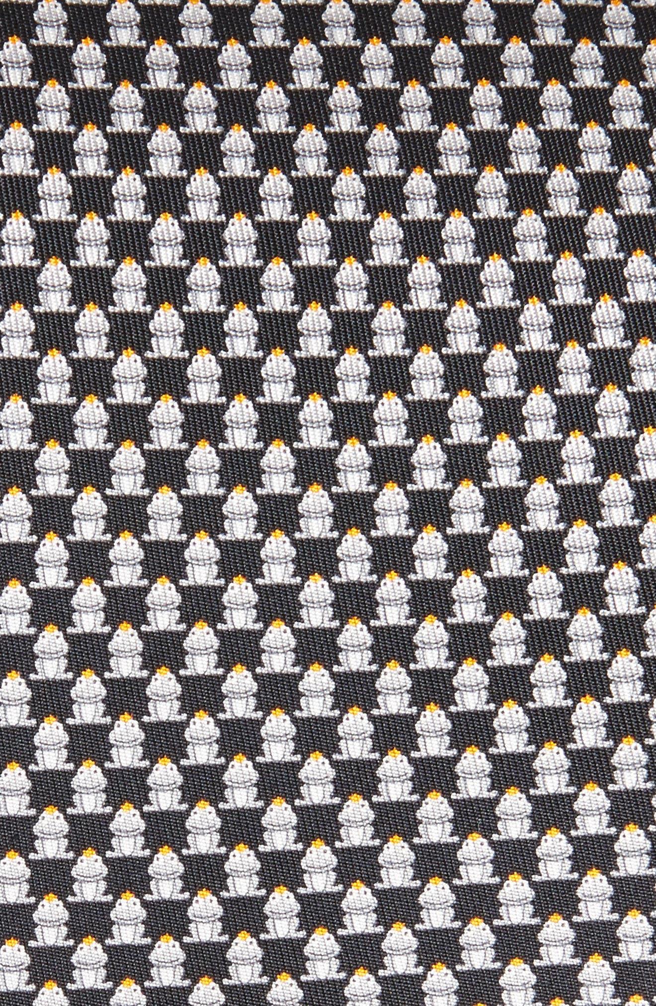 Frog Print Silk Tie,                             Alternate thumbnail 2, color,                             001