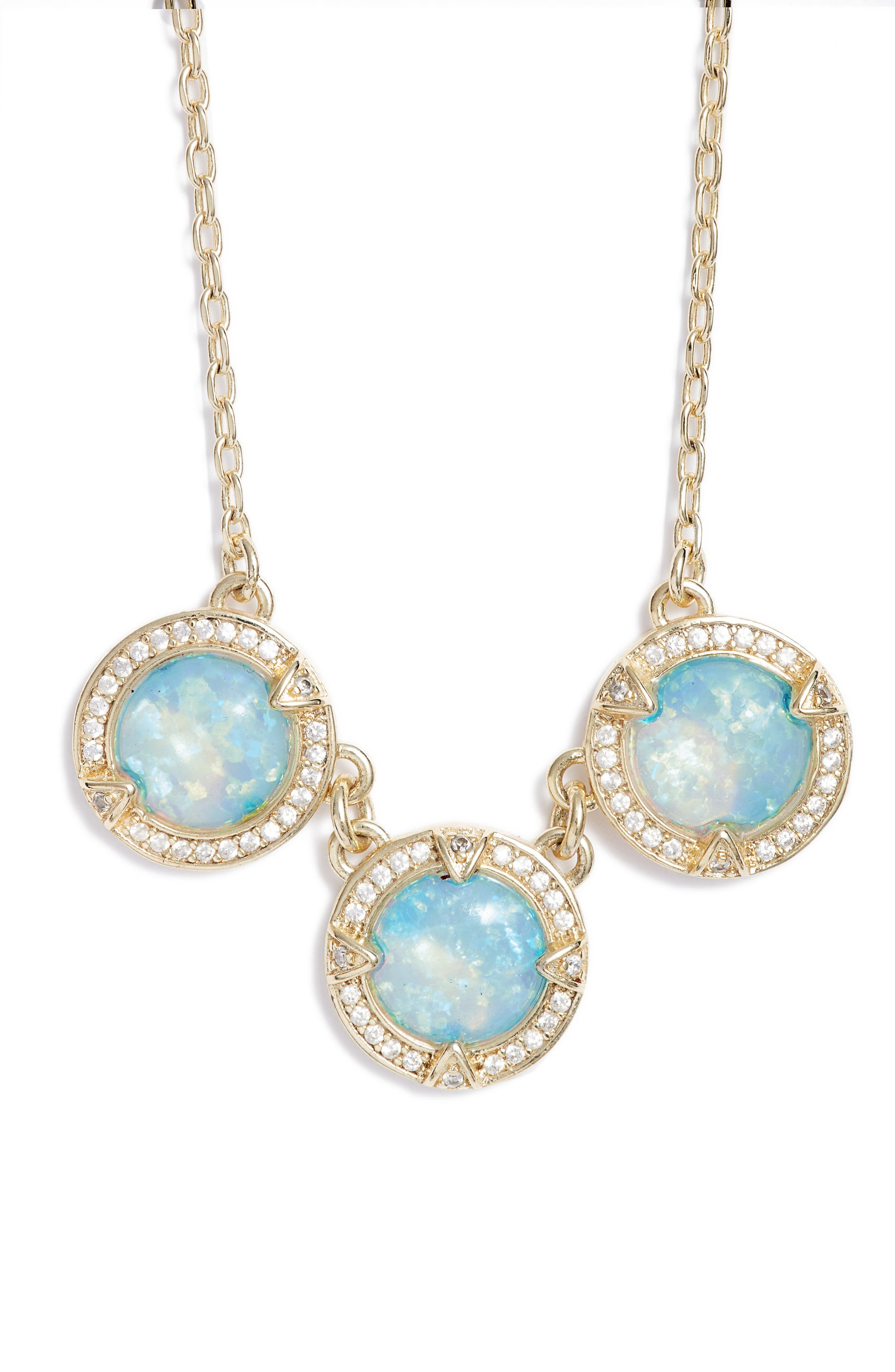 Juile Opal & Crystal Pendant Necklace,                             Main thumbnail 1, color,                             400