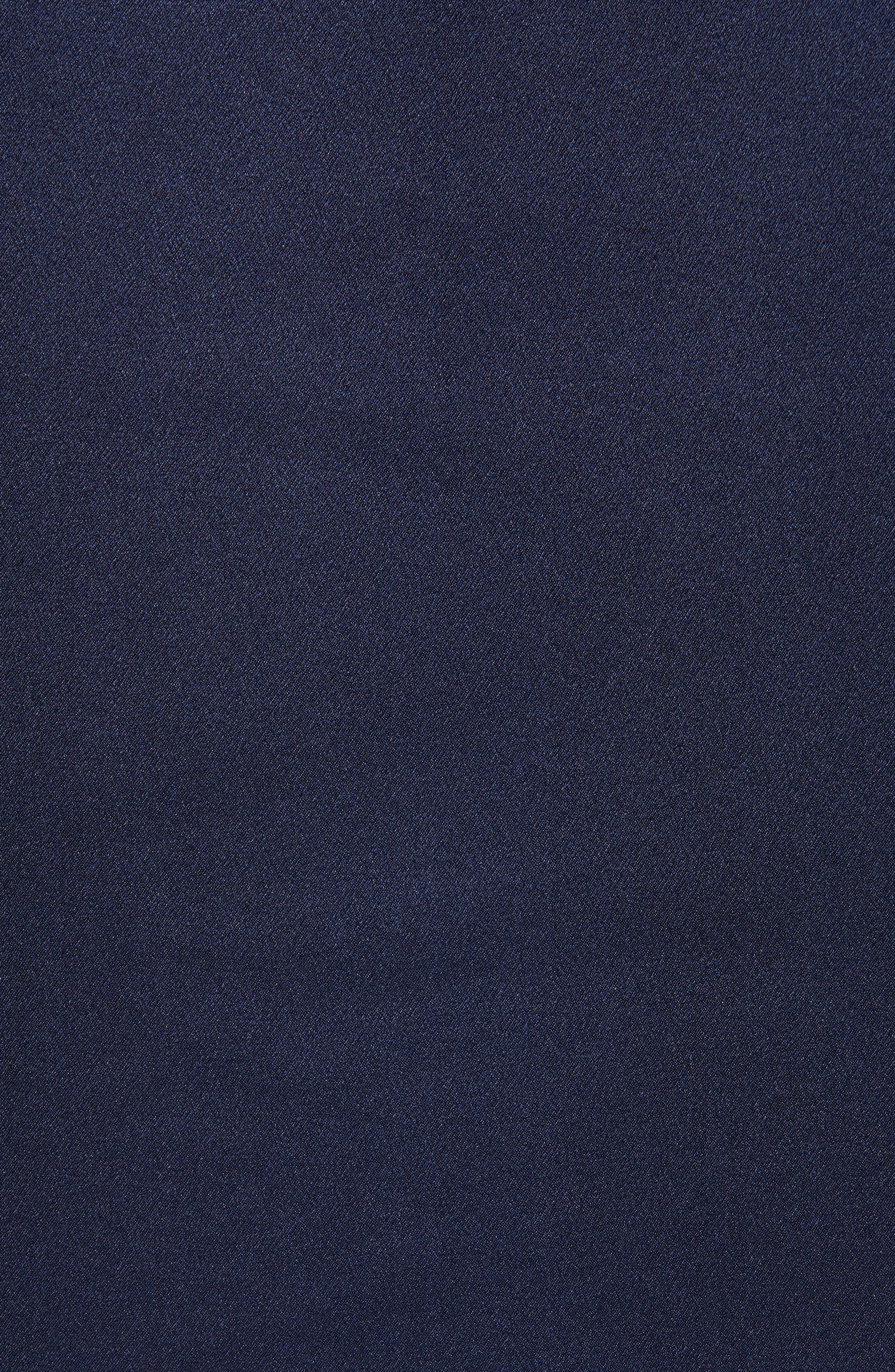 Band Collar Silk Blouse,                             Alternate thumbnail 5, color,                             MARINE