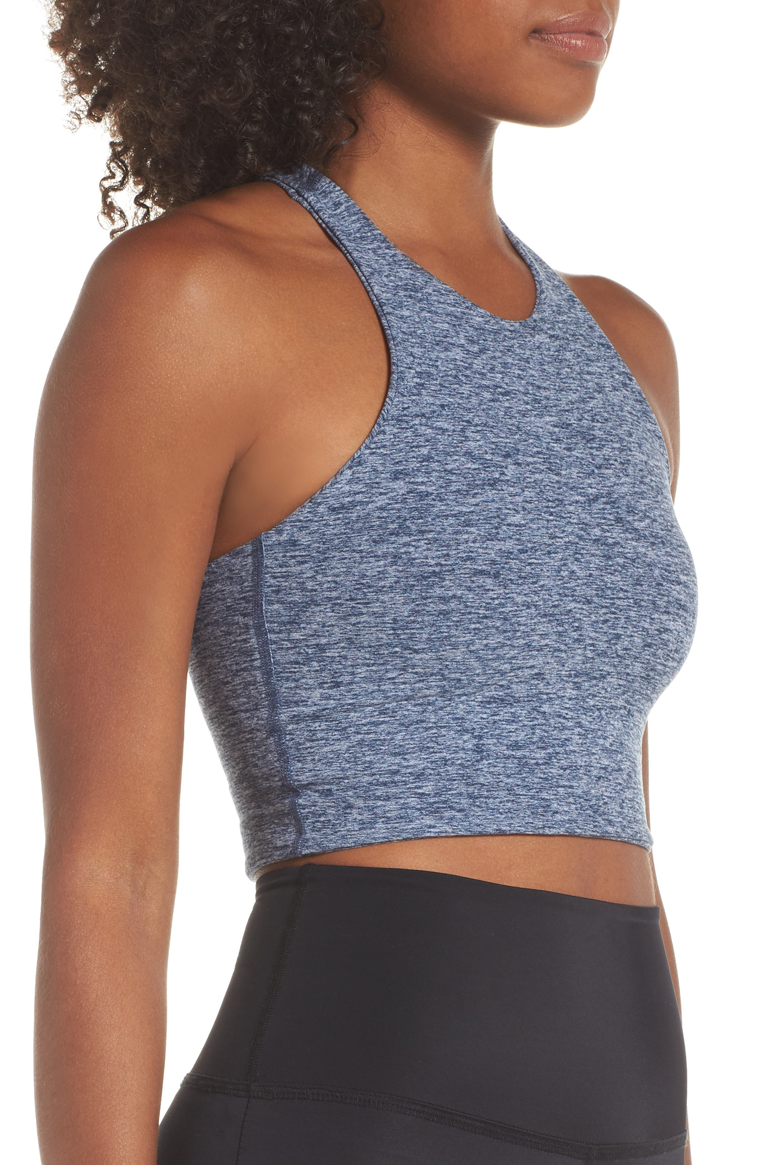 Across the Strap Cropped Top,                             Alternate thumbnail 3, color,                             WHITE/ OUTLAW NAVY