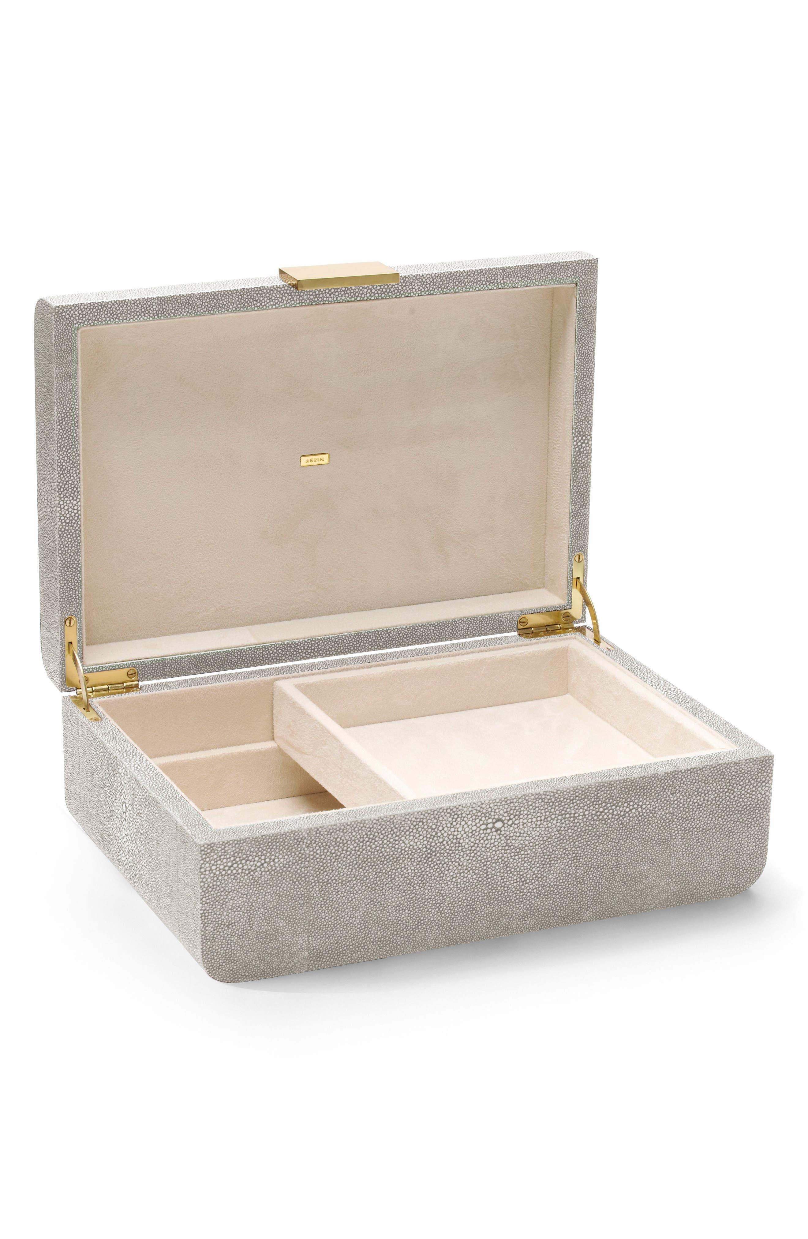 Modern Shagreen Jewelry Box,                             Alternate thumbnail 2, color,                             020