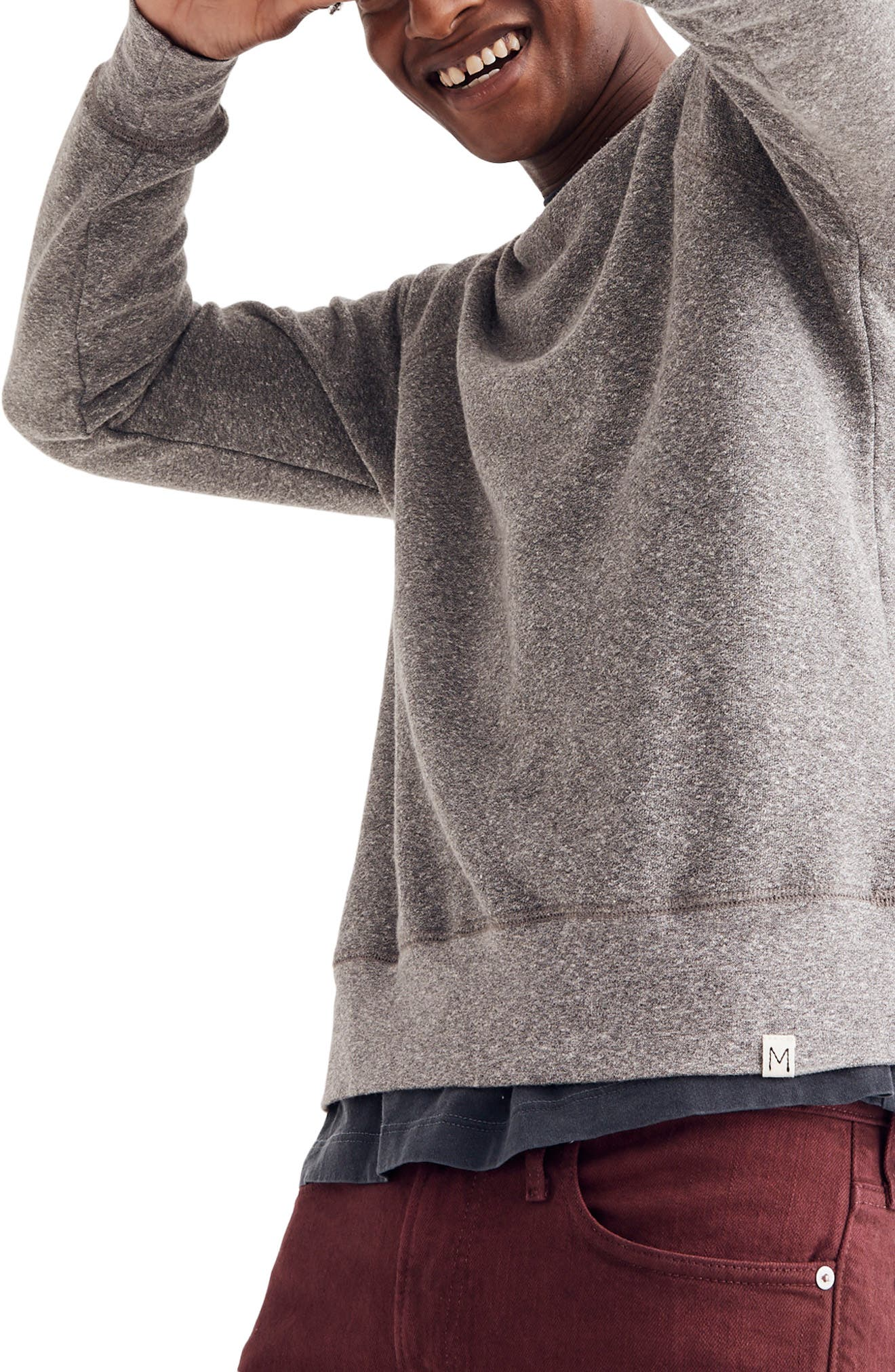 Crewneck Sweatshirt,                             Alternate thumbnail 3, color,                             GREY