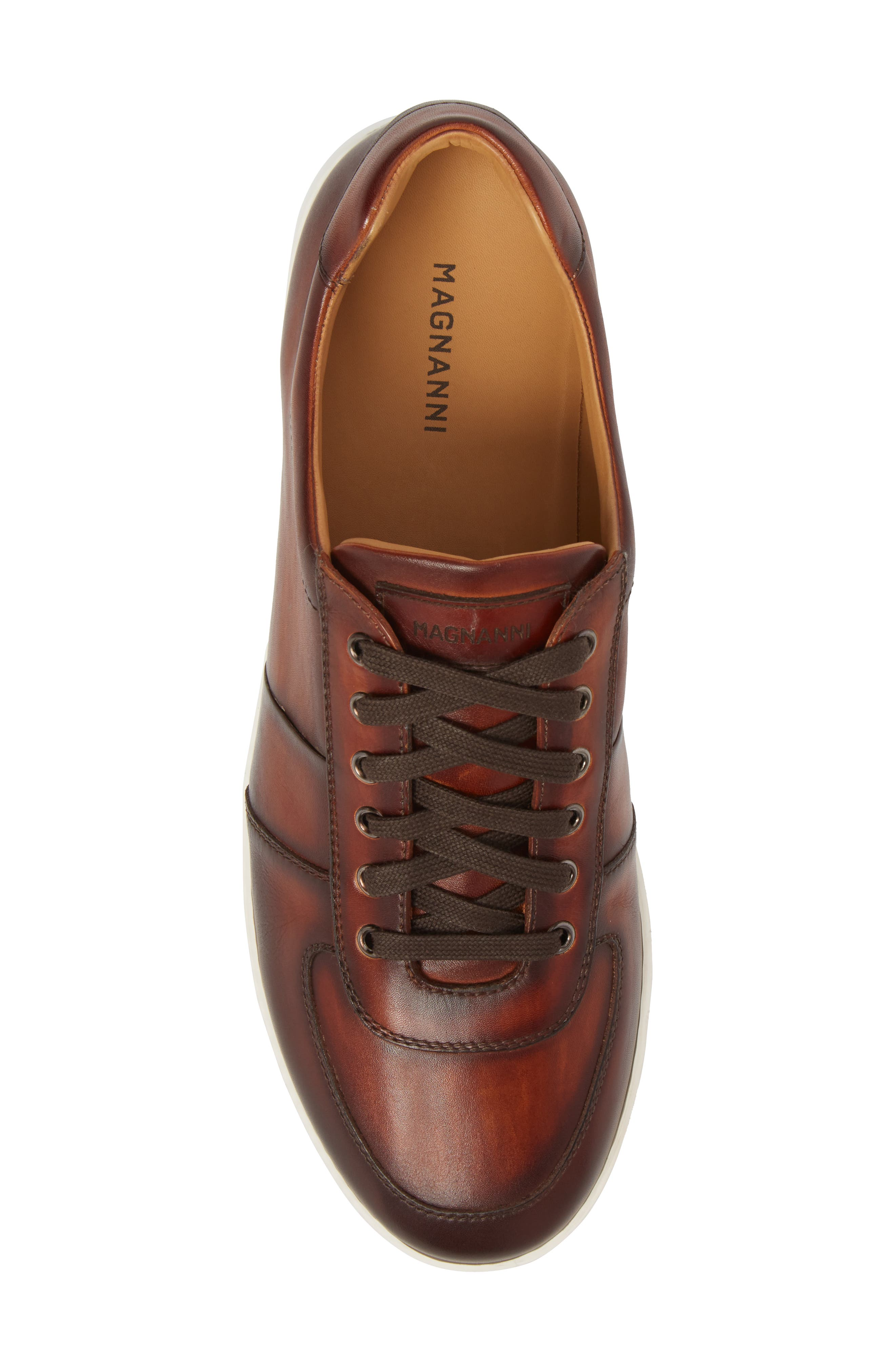 Franco Low Top Sneaker,                             Alternate thumbnail 5, color,                             COGNAC LEATHER