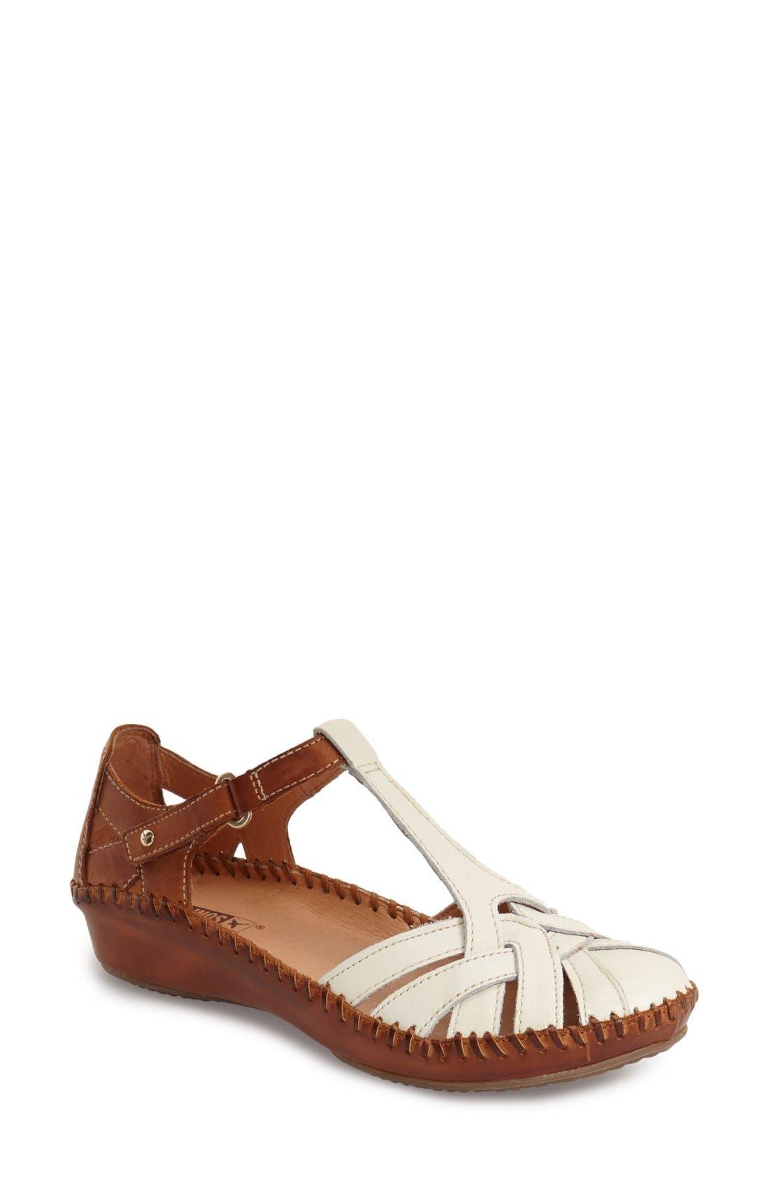 'P. Vallarta 655' T-Strap Sandal,                             Main thumbnail 1, color,                             100