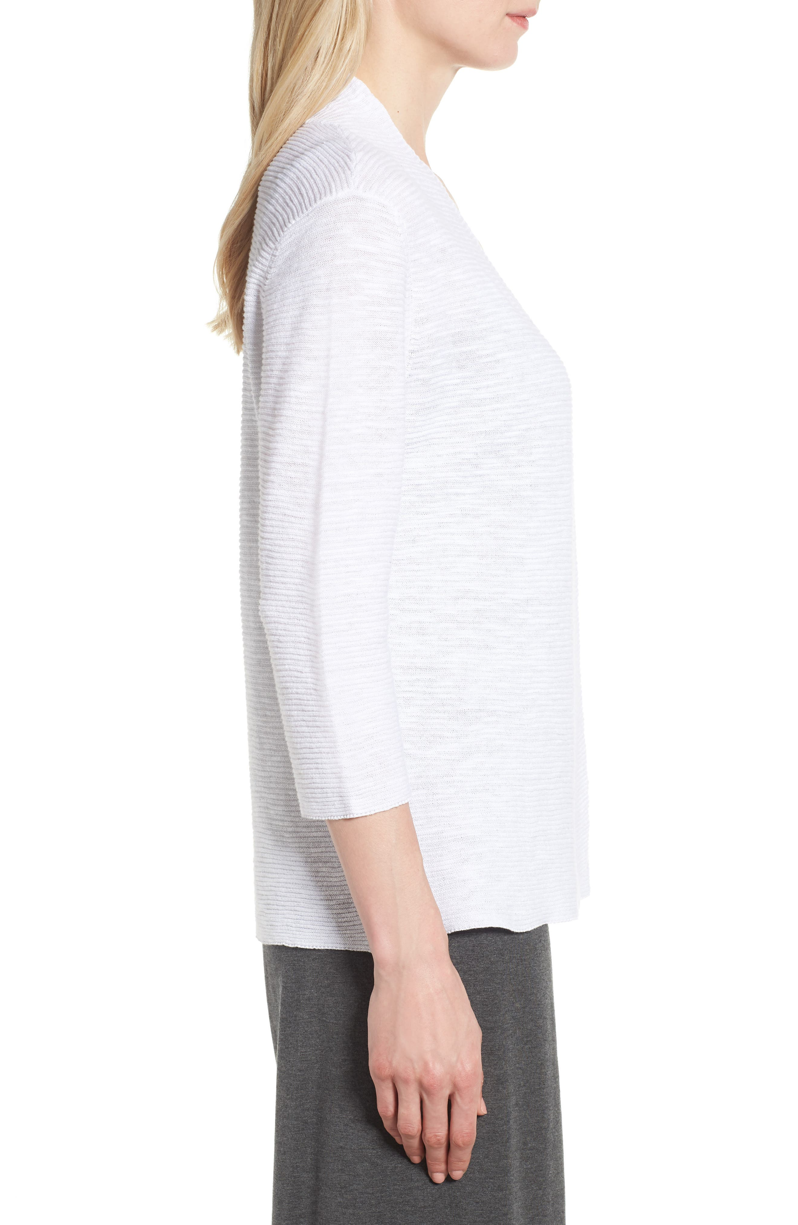 Simple Organic Linen & Cotton Cardigan,                             Alternate thumbnail 8, color,