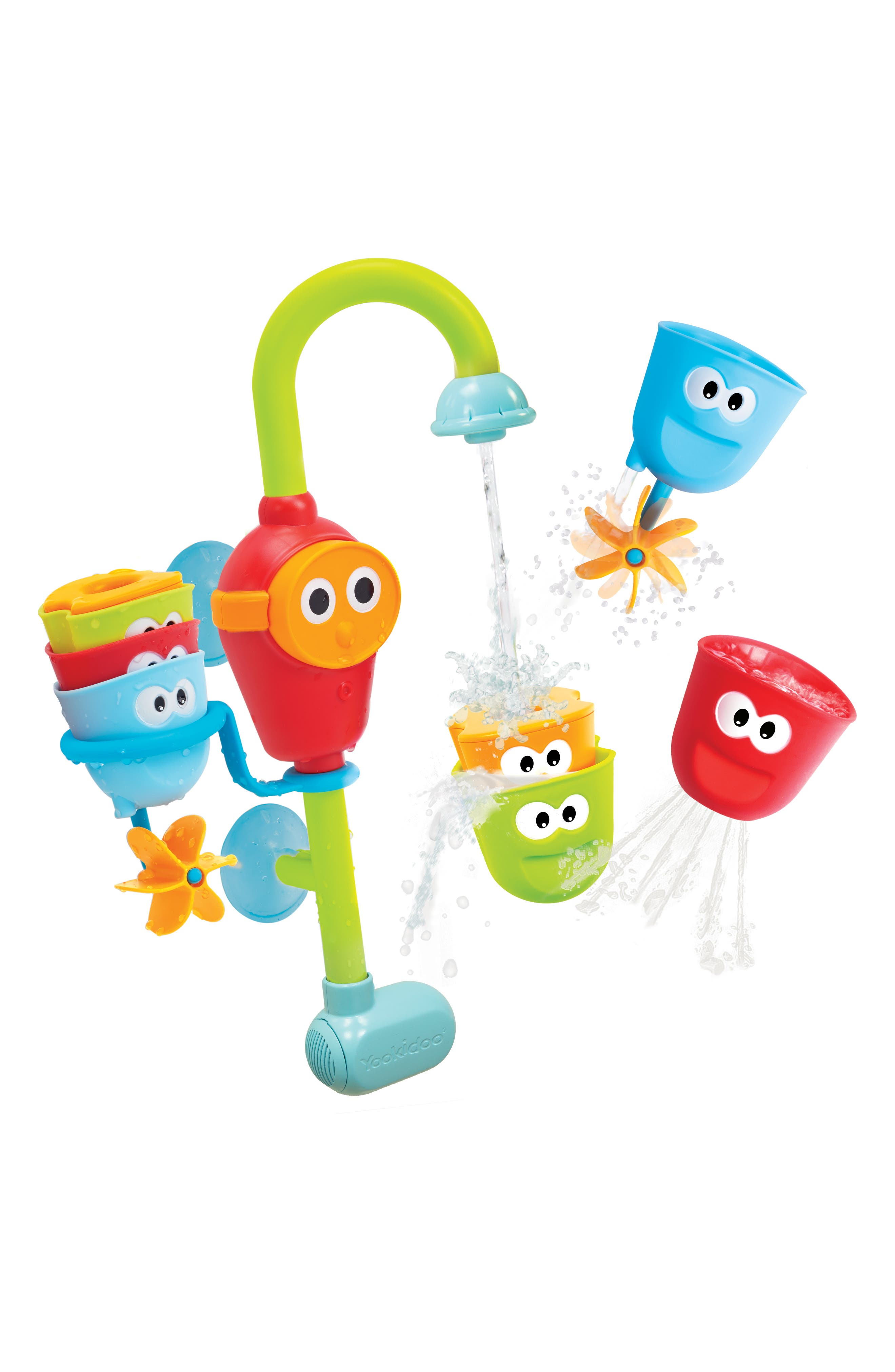 Flow 'N' Fill Spout Bath Toy,                         Main,                         color, GREEN