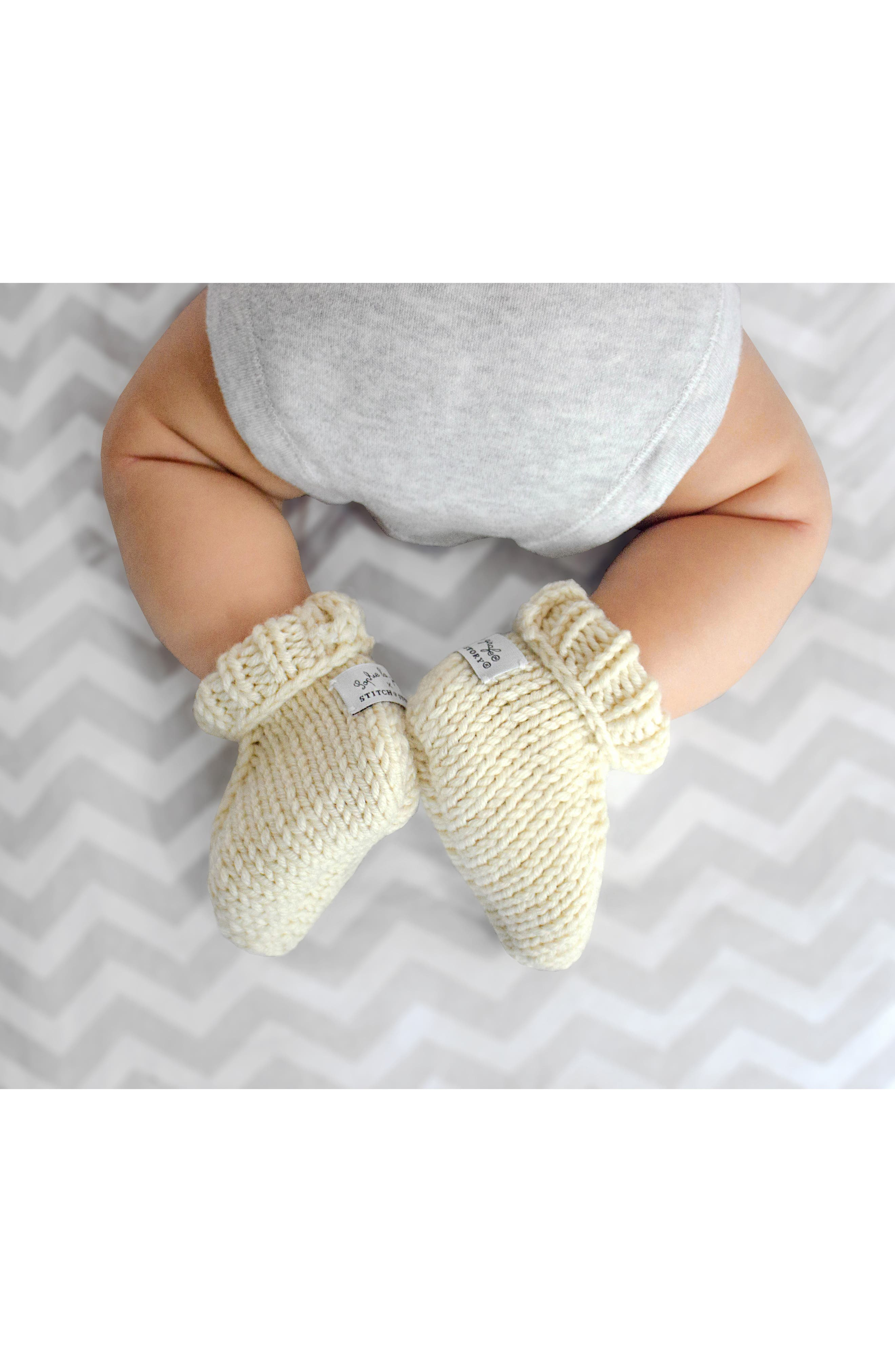 Lily Bow & Booties Knitting Kit,                             Alternate thumbnail 3, color,                             PINK/ IVORY