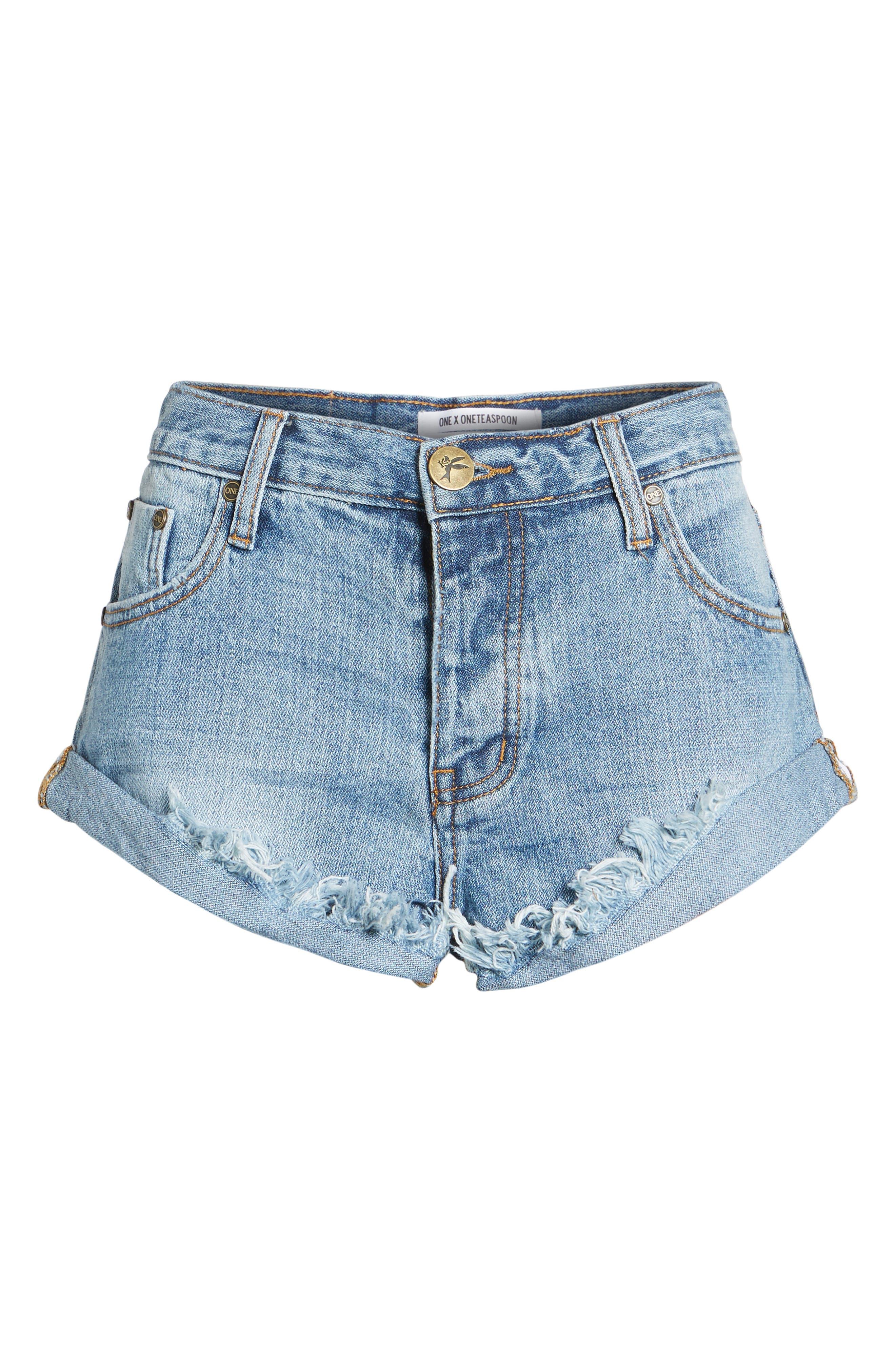 Bandits Denim Shorts,                             Alternate thumbnail 6, color,                             460