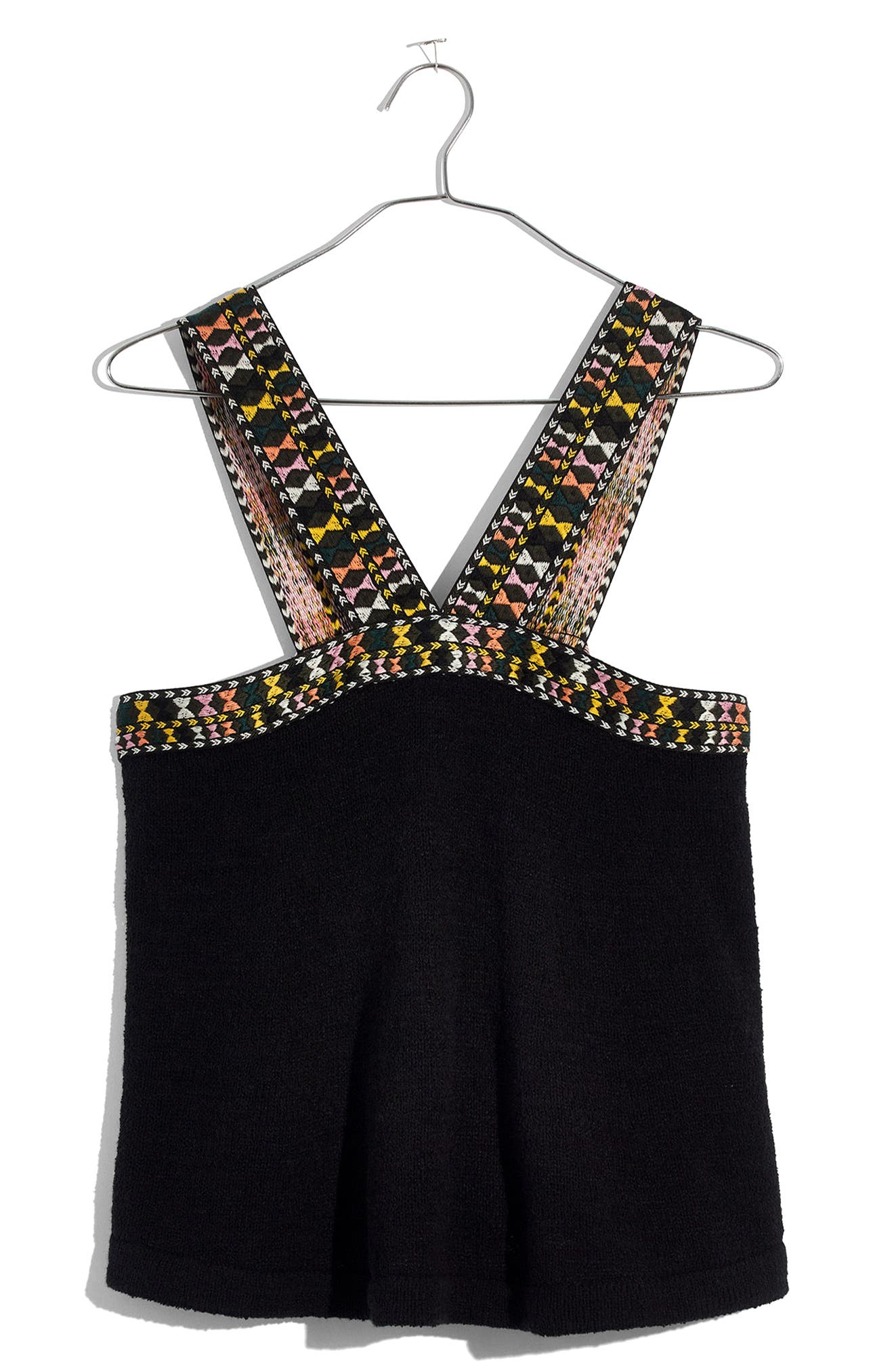 Embroidered Swing Sweater Tank,                             Alternate thumbnail 3, color,                             009